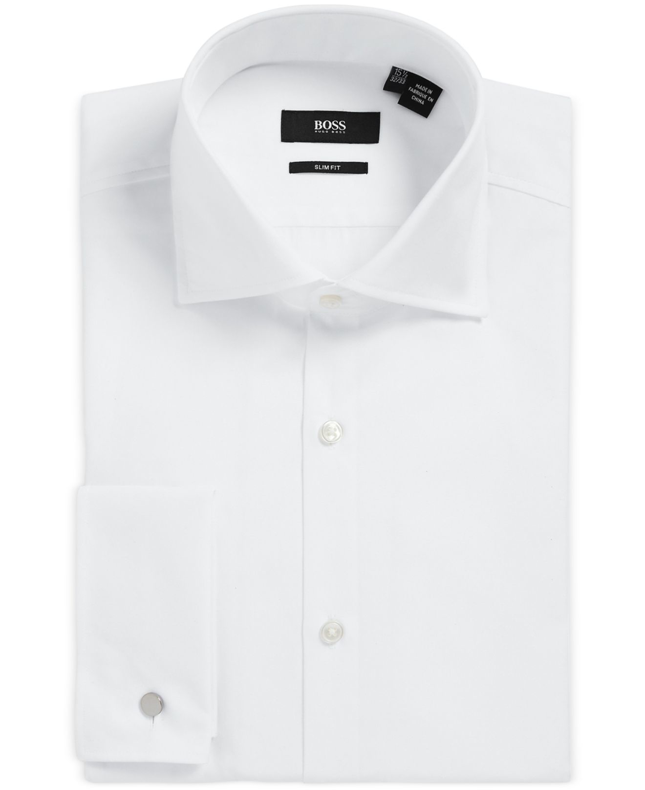 Lyst boss boss slim fit french cuff dress shirt in white White french cuff shirt slim fit