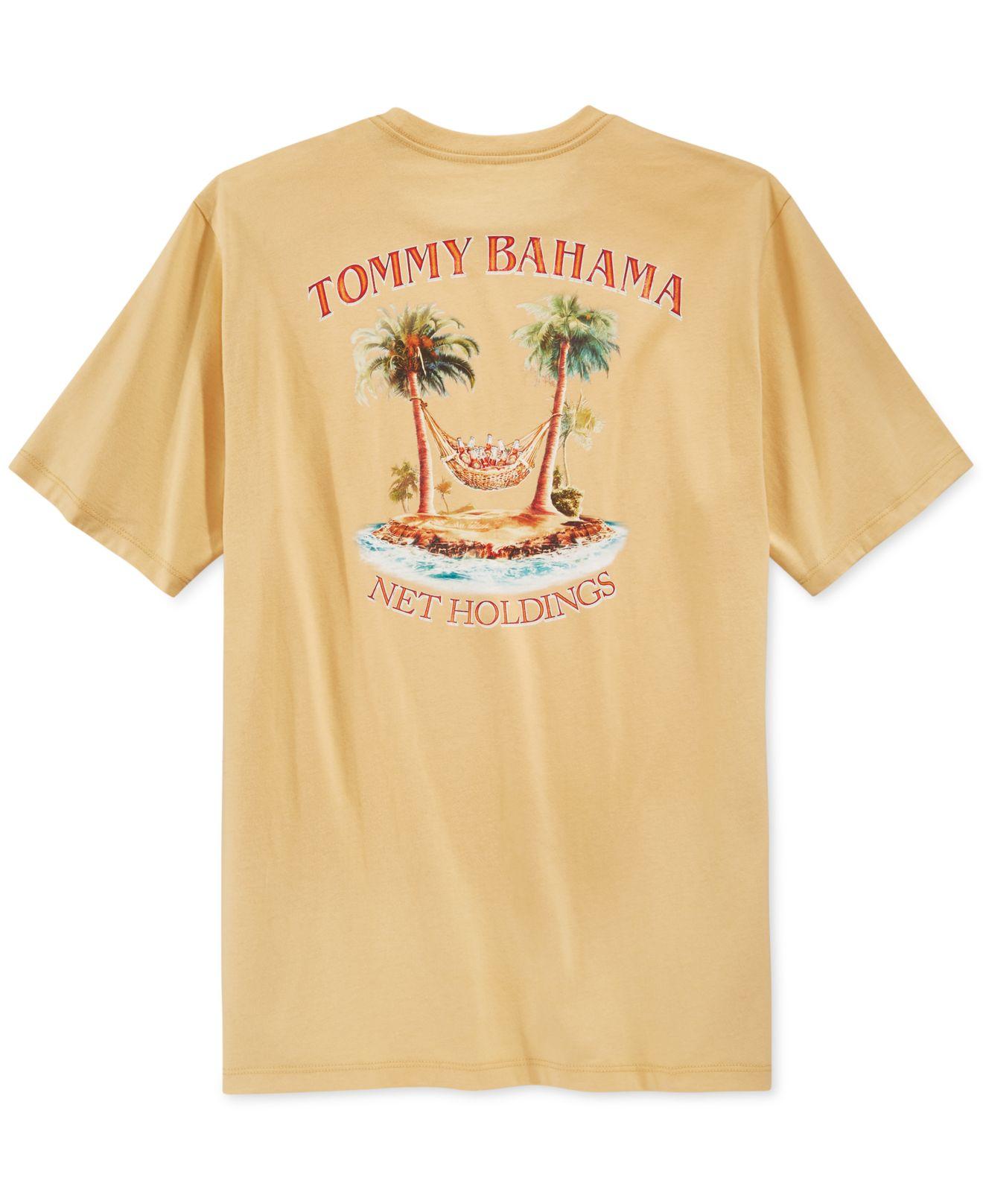 Lyst Tommy Bahama Men 39 S Net Holding T Shirt In Brown For Men