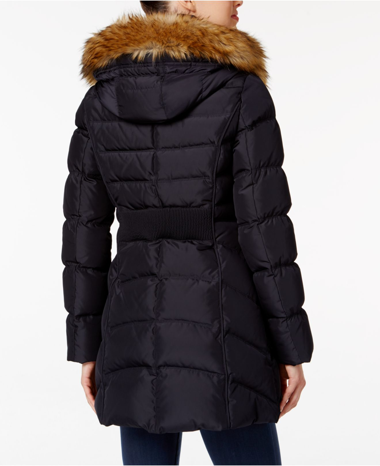 Lyst Laundry By Shelli Segal Faux Fur Trim Down Quilted