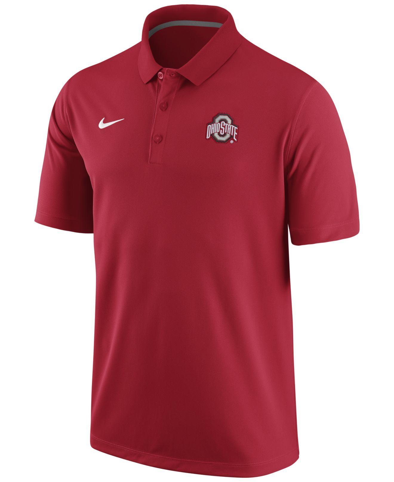 Nike men 39 s ohio state buckeyes stadium team first solid for Ohio state polo shirt 3xl