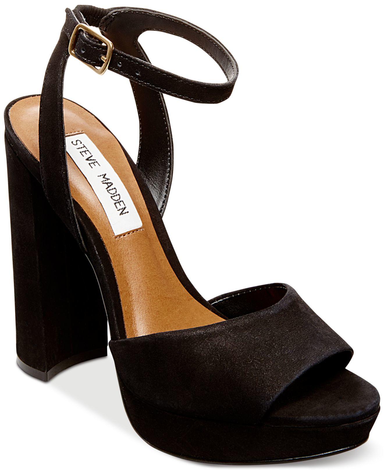 a4a680764 Steve Madden Women's Britt Platform Sandals in Black - Lyst