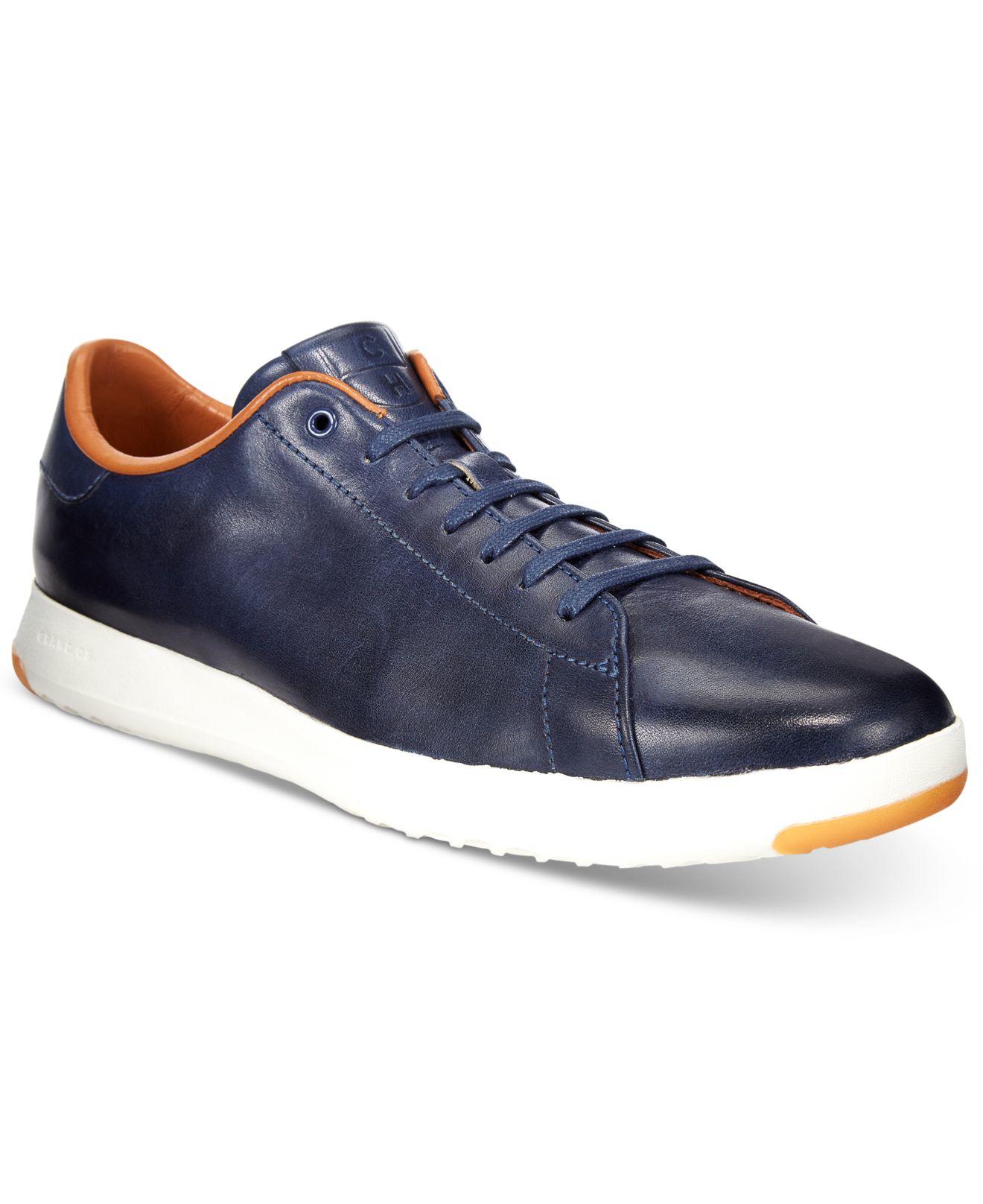cole haan s grandpro tennis sneakers in blue for