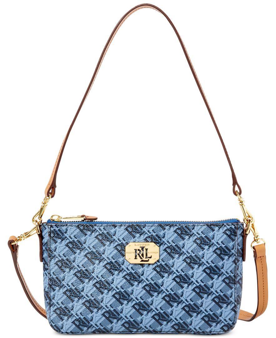 Lyst - Lauren By Ralph Lauren Dobson Pam Small Shoulder Bag in Blue b551dfdff5634