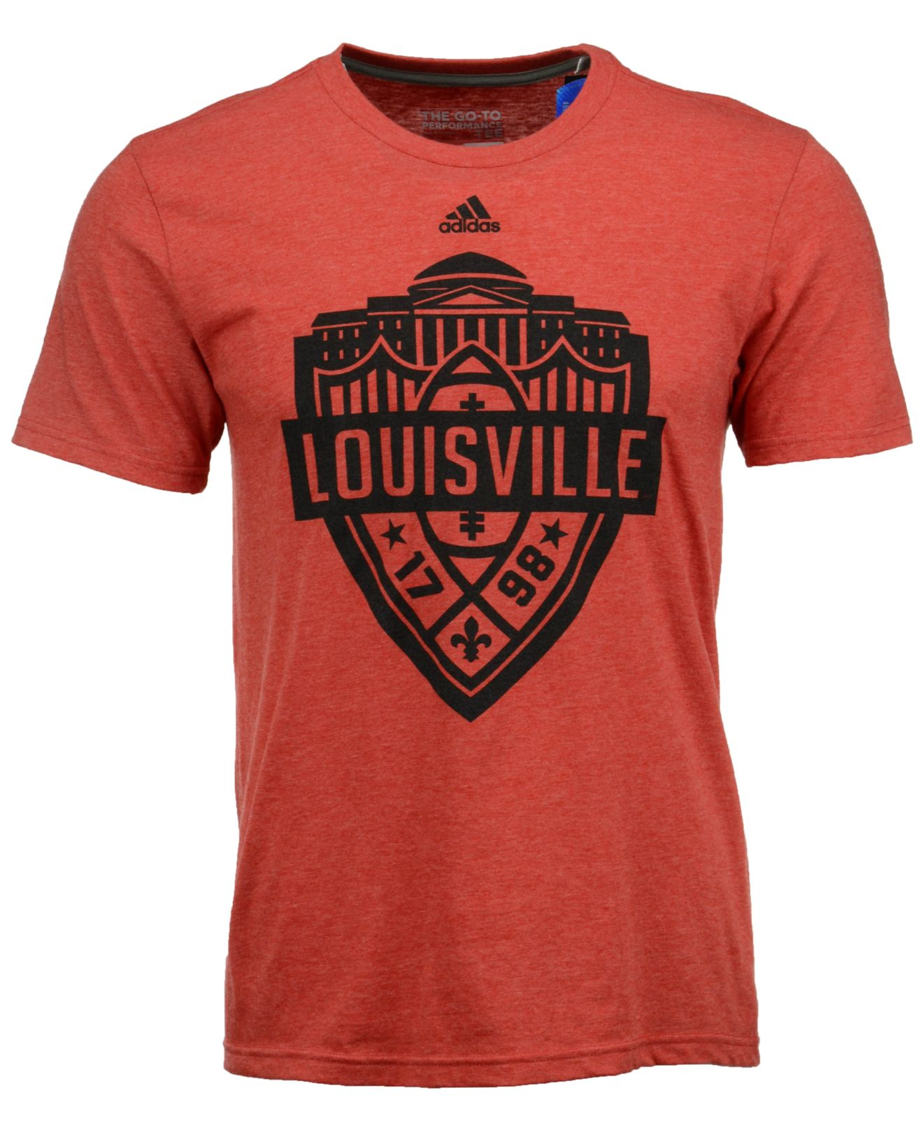 Adidas originals men 39 s louisville cardinals landmark crest for Louisville t shirt printing