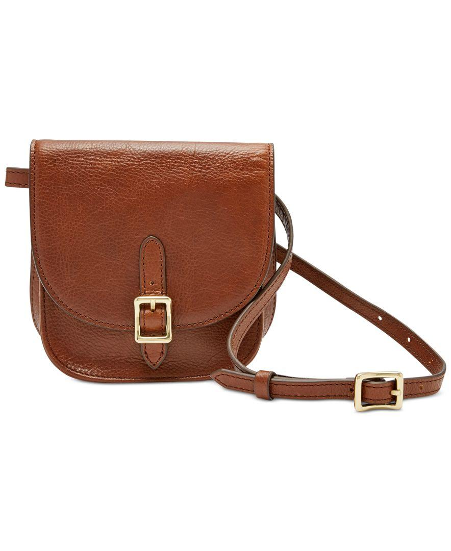 b73583fbe9c5 Lyst - Fossil Saddle Leather Fanny Pack in Brown