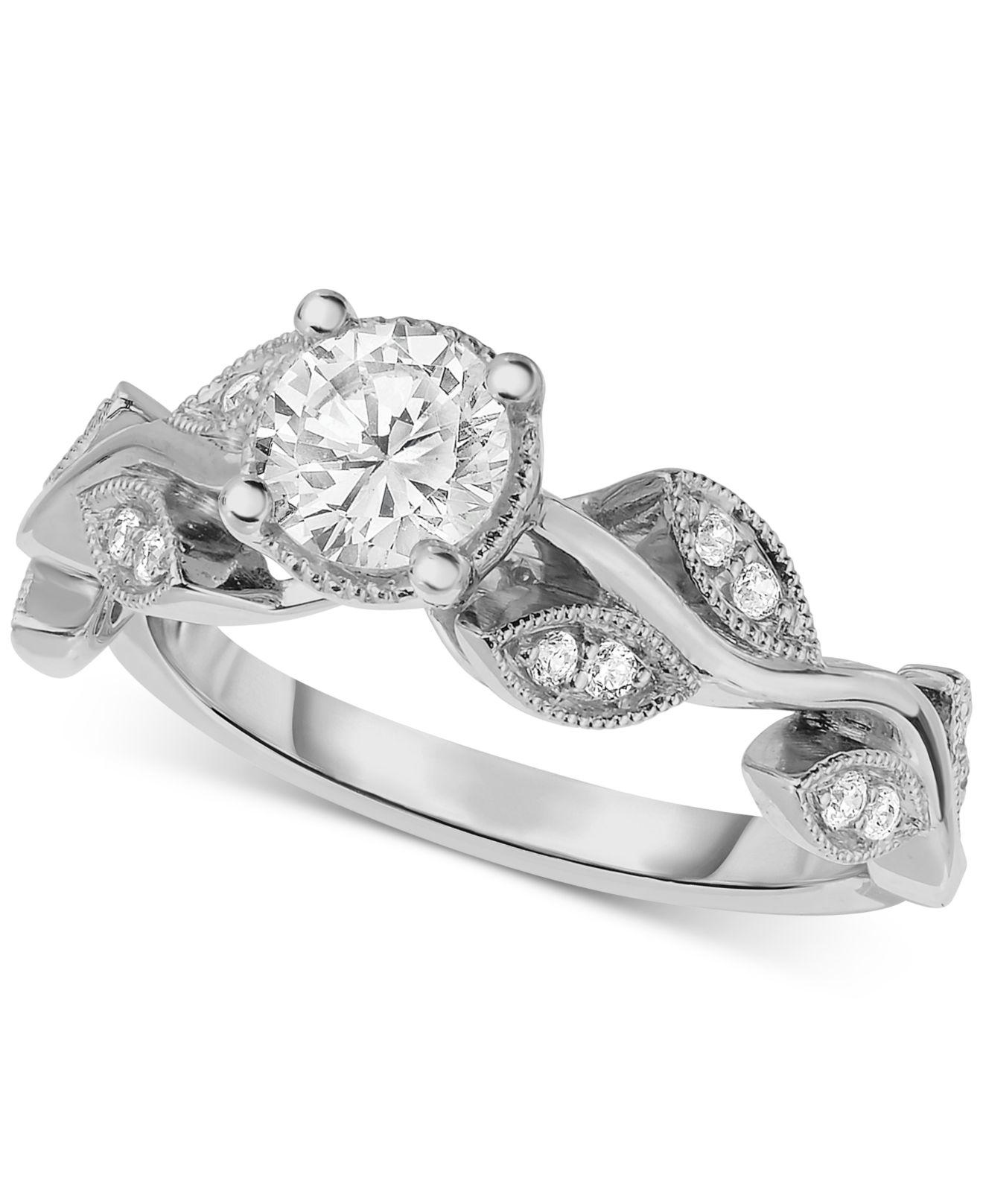 Macy's Diamond Vine-inspired Engagement Ring (5/8 Ct. T.w