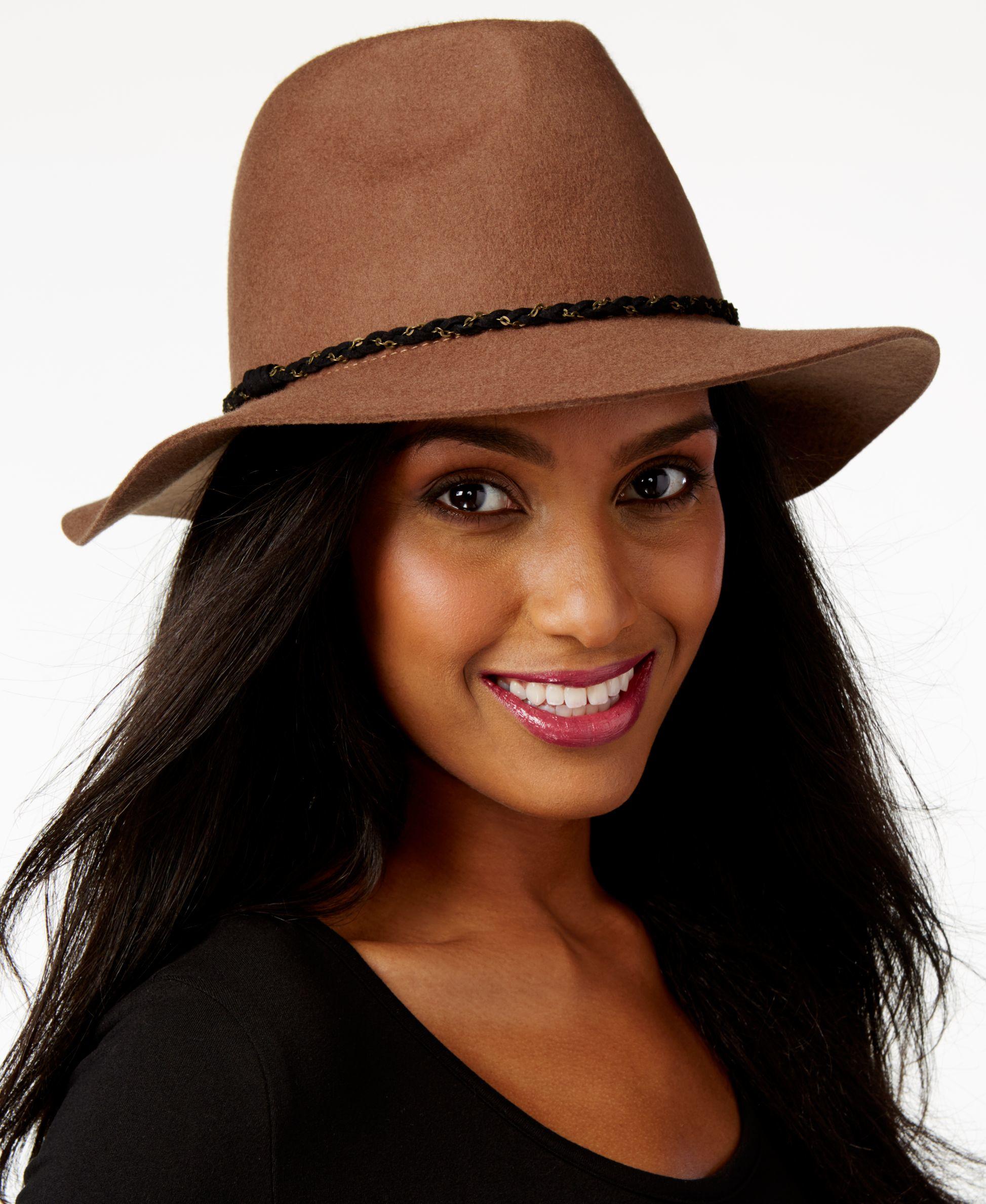 Nine west Felt Rancher Hat in Multicolor