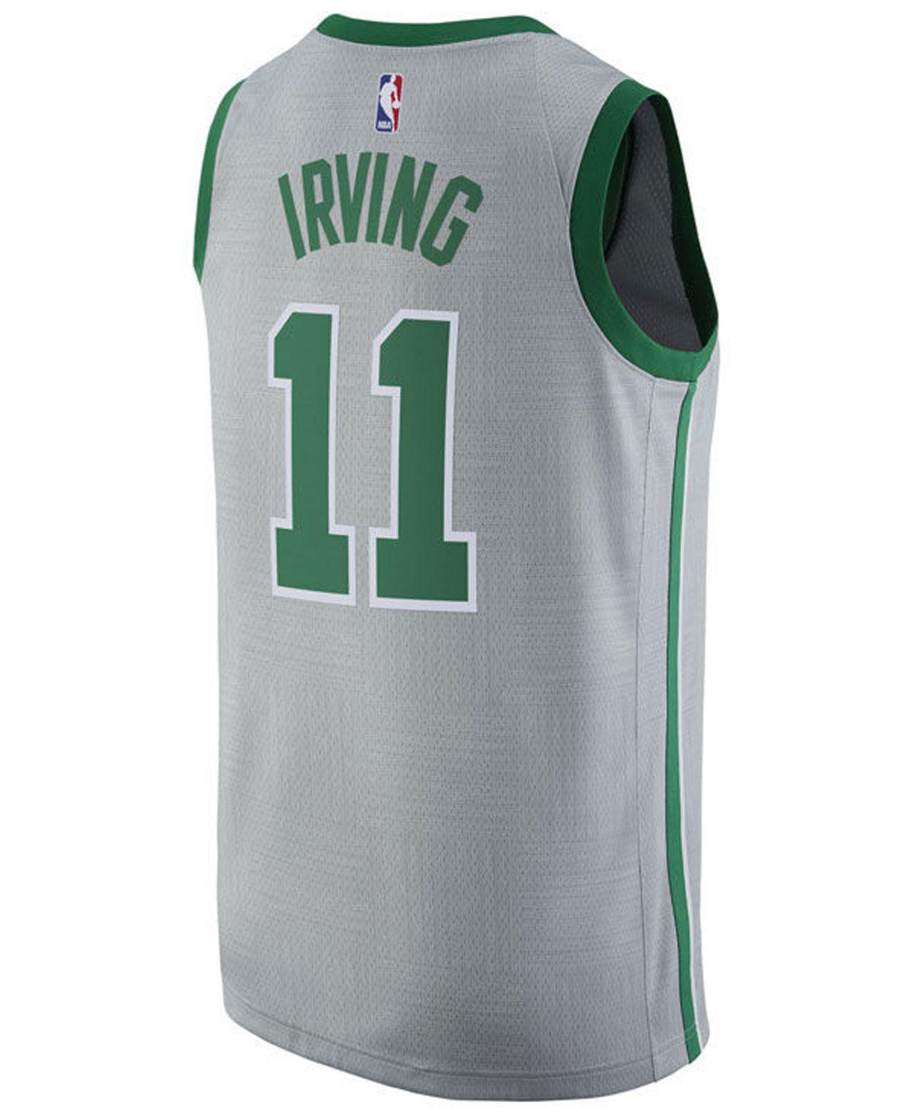 pick up 25ad6 04cb5 Men's Gray Kyrie Irving Boston Celtics City Swingman Jersey
