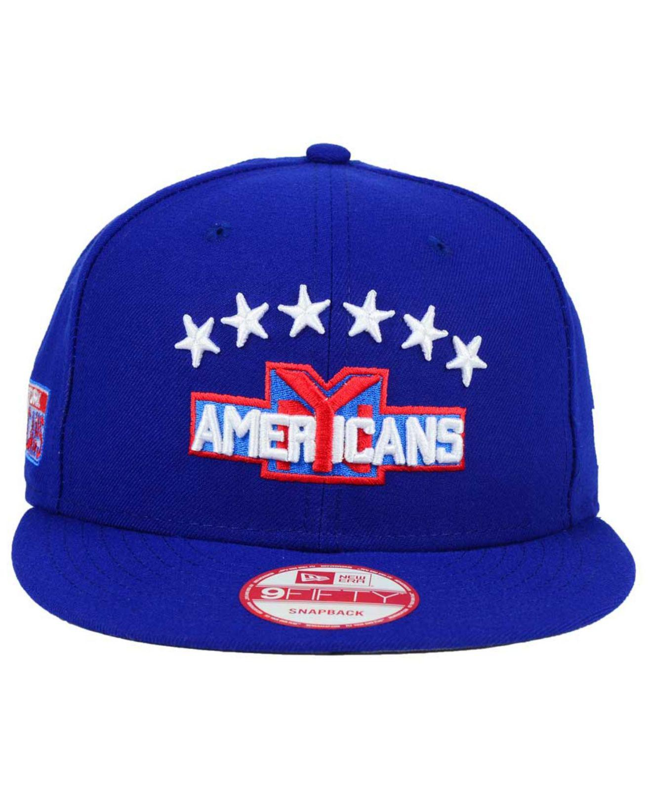 Lyst - KTZ New York Americans All Day 9fifty Snapback Cap in Blue for Men 0ac492c0a540