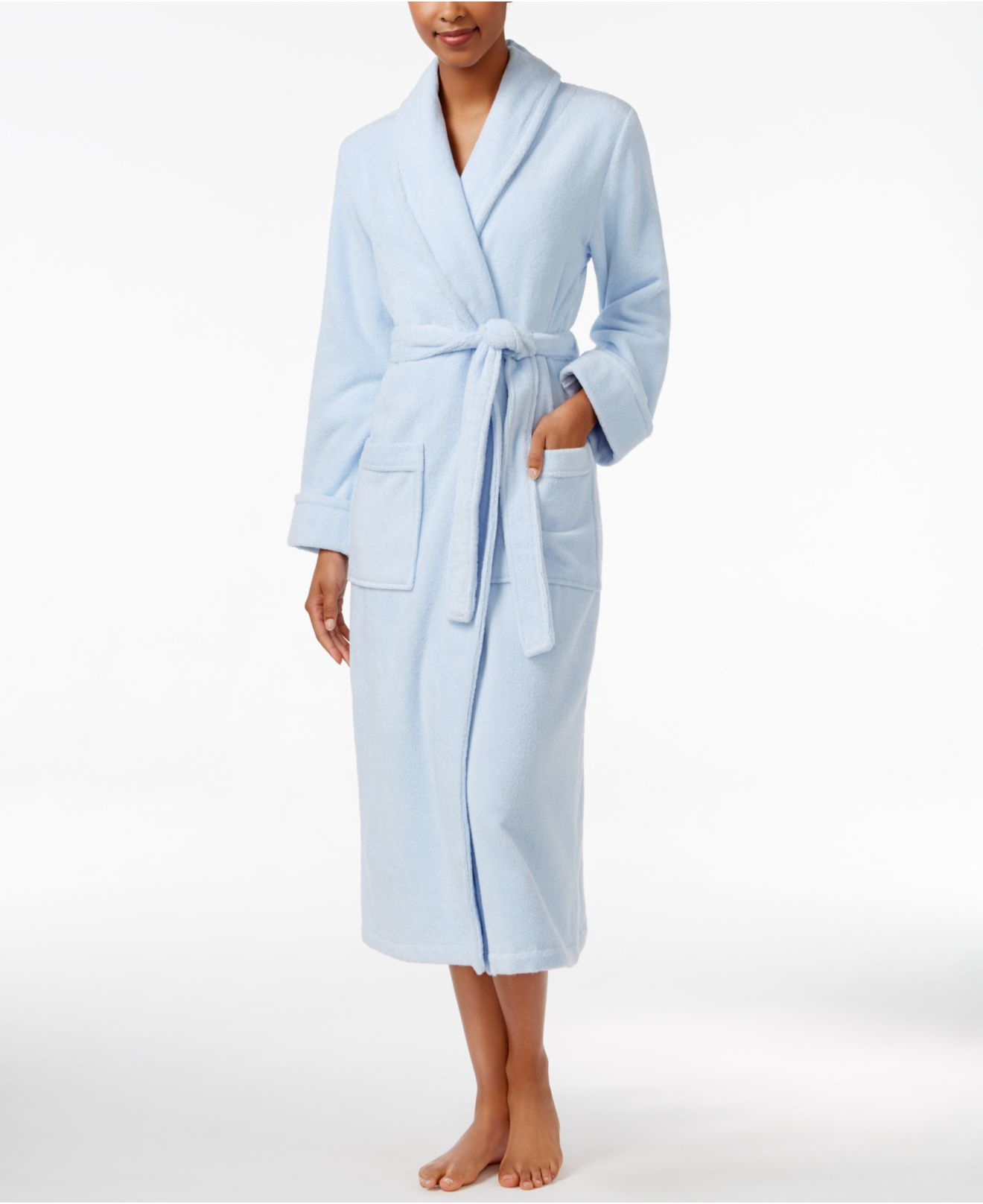 Charter Club Luxe Turkish Cotton Terry Wrap Robe In