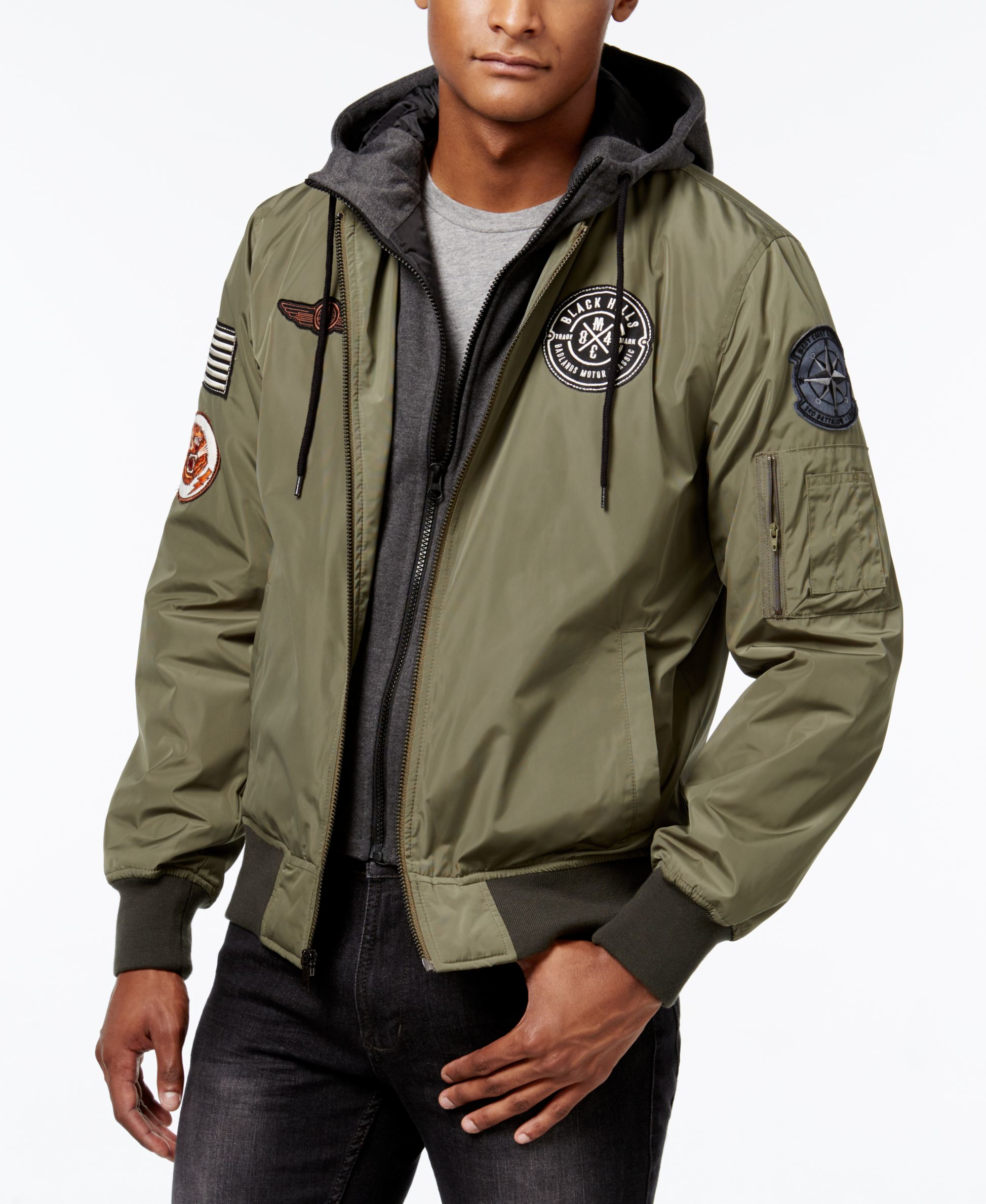 af589708c American Rag Green Men's Hooded Bomber Jacket, Only At Macy's for men