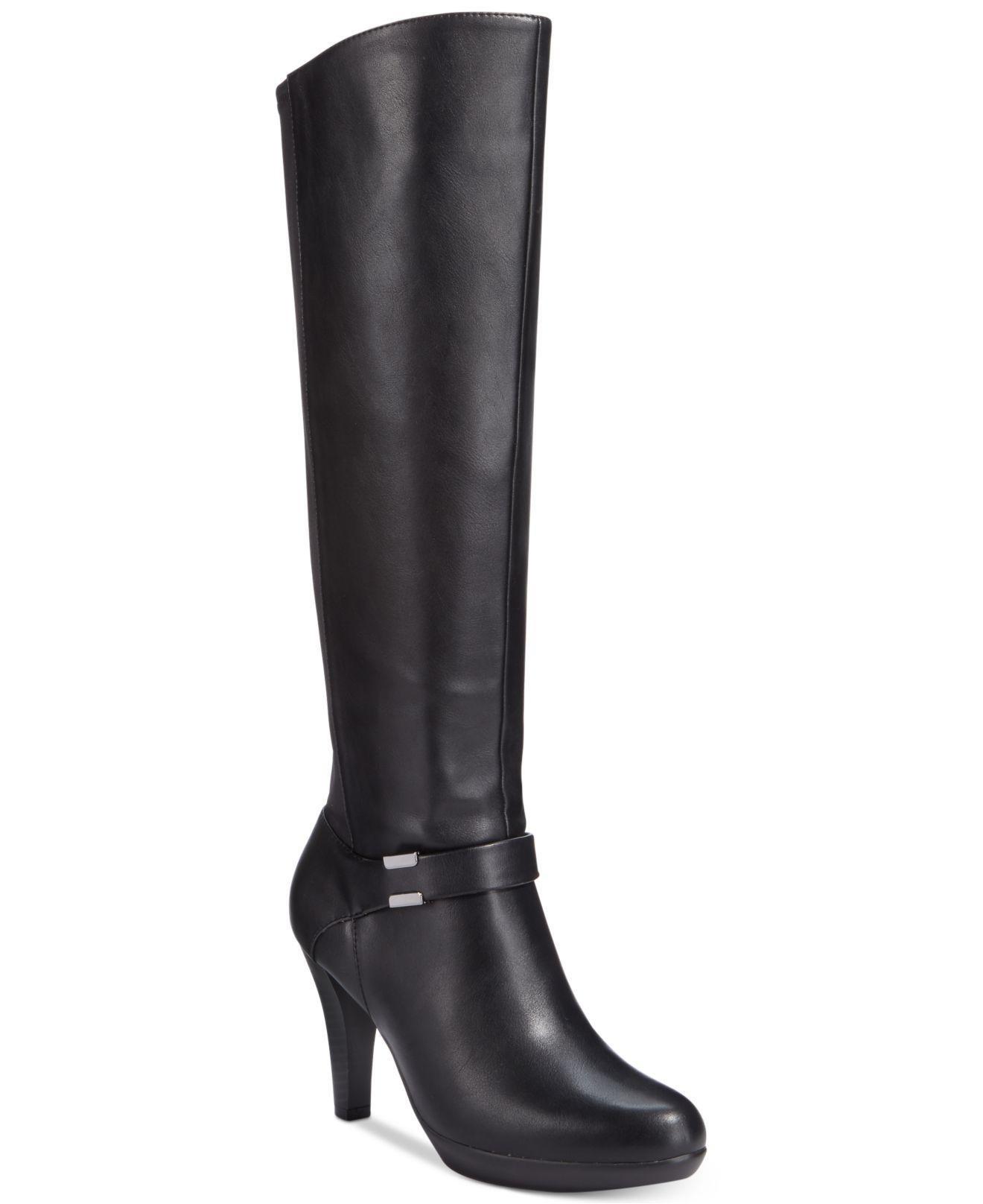 Lyst Alfani Viollah Tall Boots In Black