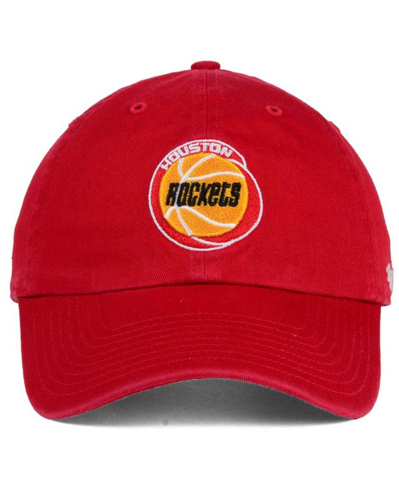 47 Brand Houston Rockets Hardwood Classics Clean Up Cap In
