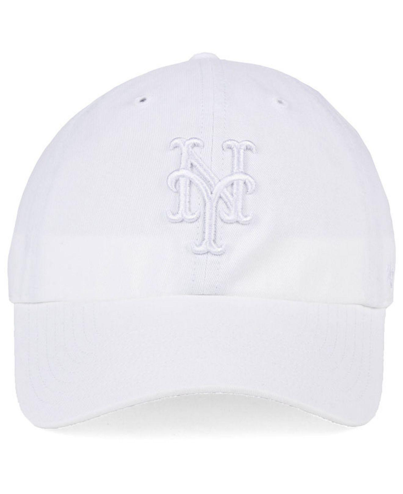 best service 19a1f 01e92 Lyst - 47 Brand New York Mets White white Clean Up Cap in White for Men