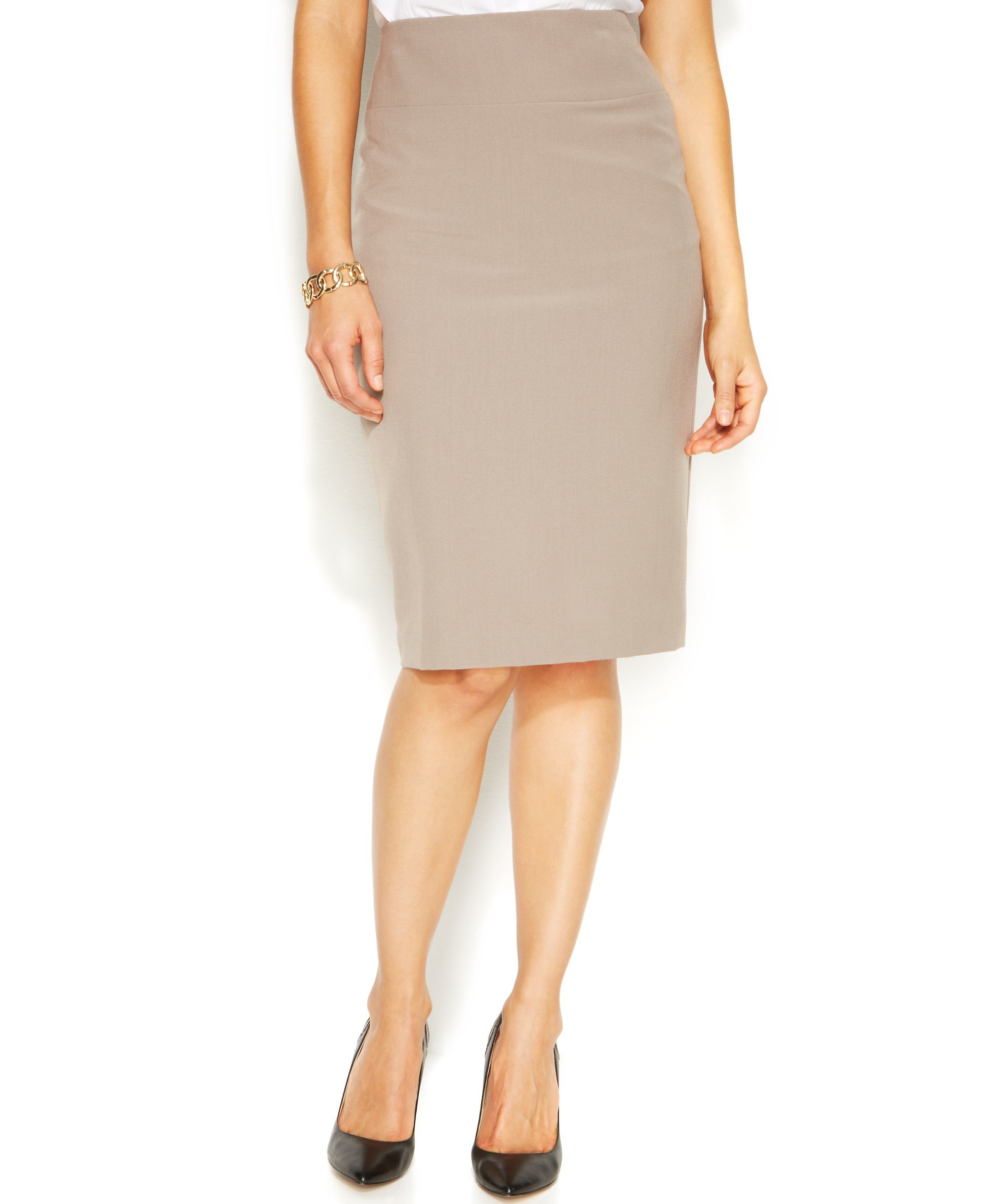 alfani classic pencil skirt only at macy s in gray lyst