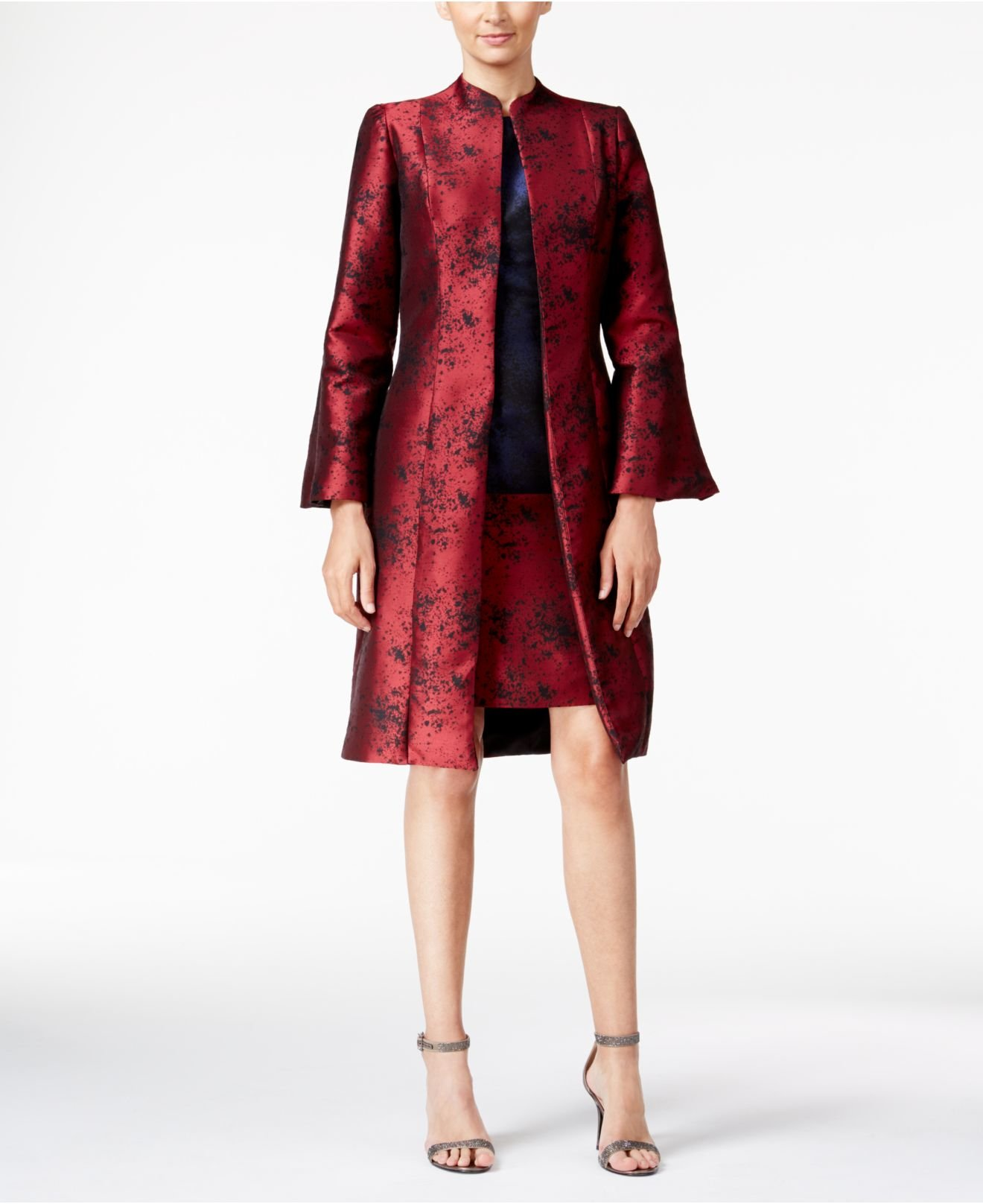 Lyst B Michael Abstract Topper Evening Jacket In Red