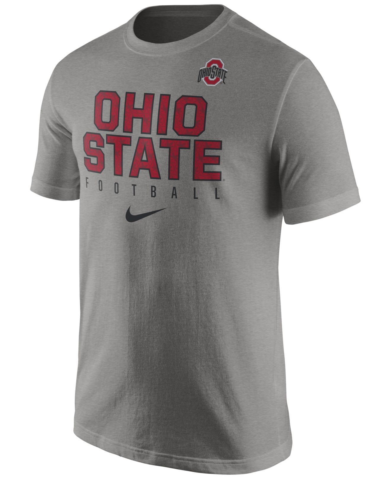 Nike men 39 s ohio state buckeyes cotton practice t shirt in for Ohio state shirts mens