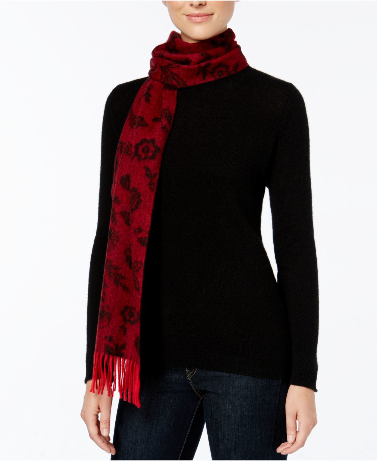 charter club ditsy floral woven scarf only at