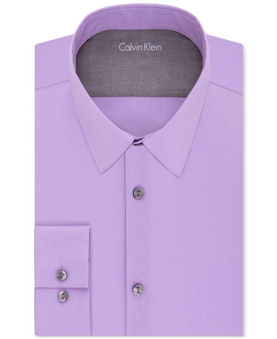 Calvin klein x men 39 s extra slim fit stretch dress shirt in for Extra slim dress shirt