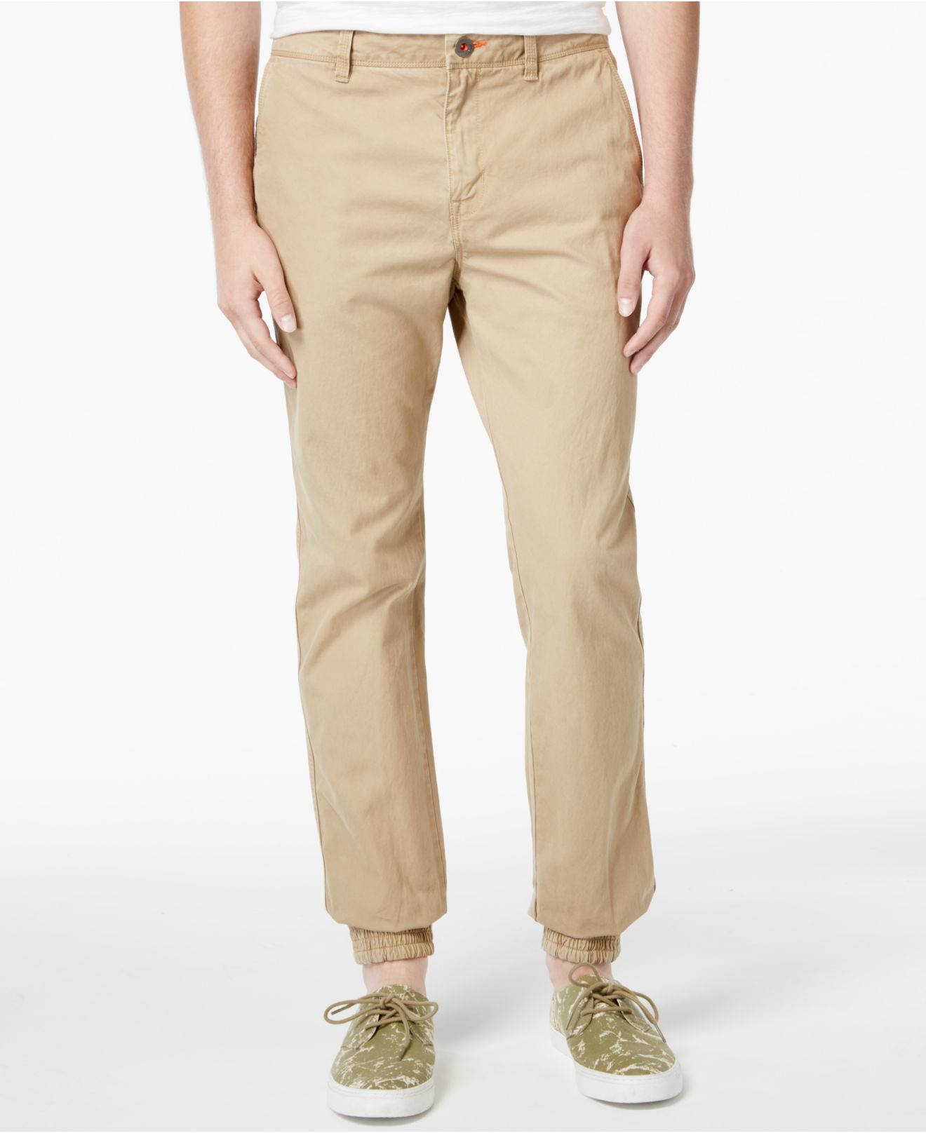 Superdry Men's Rookie Grip Chino Joggers In Natural