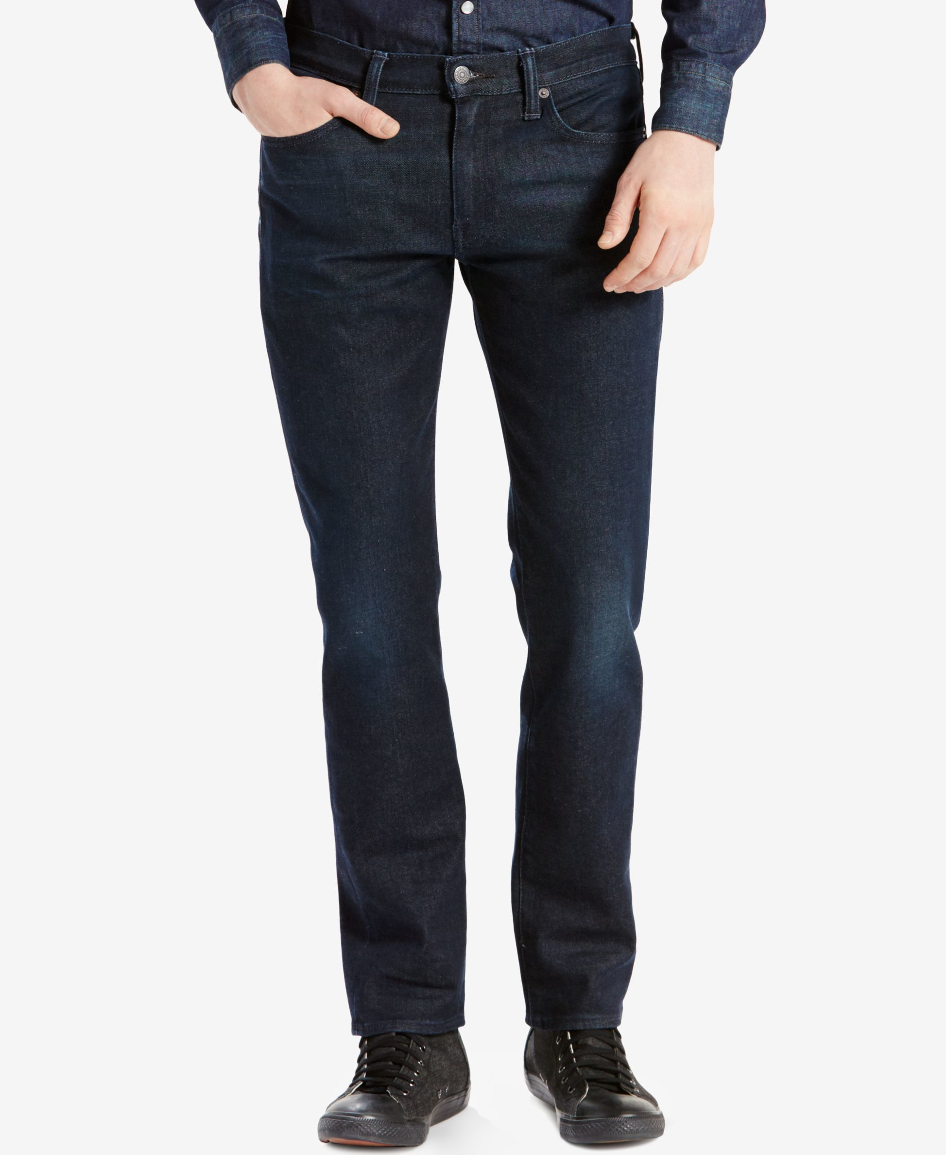 levi 39 s 511 slim fit performance stretch jeans in blue for. Black Bedroom Furniture Sets. Home Design Ideas