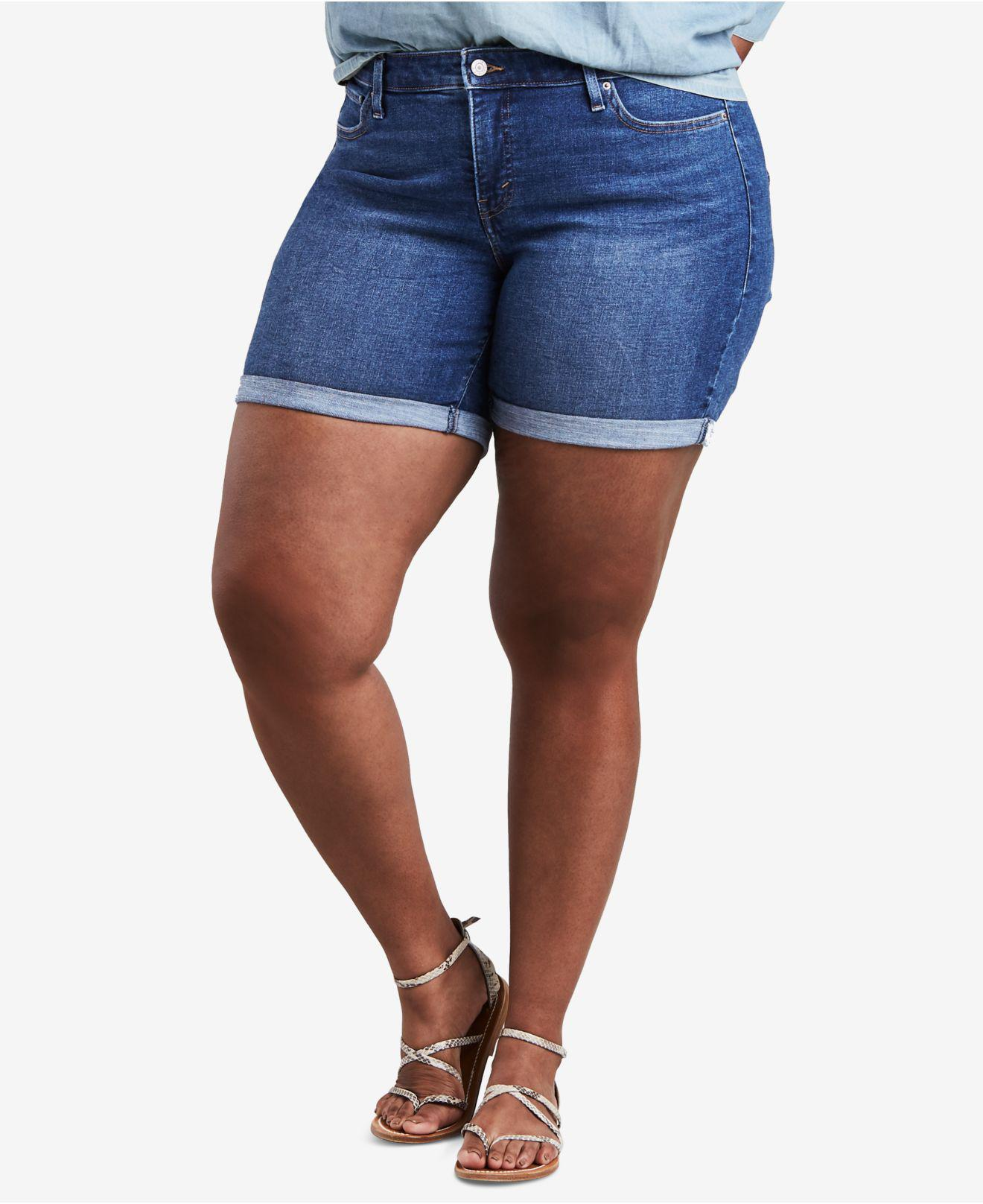 Sweatwater Womens Jeans Casual High Rise Cut Off Summer Hole Denim Shorts