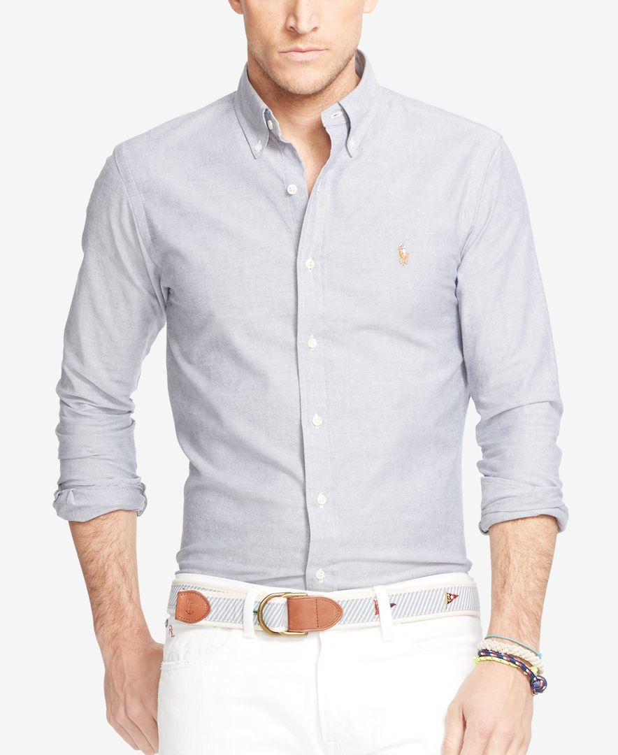 Lyst polo ralph lauren men 39 s big and tall stretch oxford for Big and tall oxford shirts