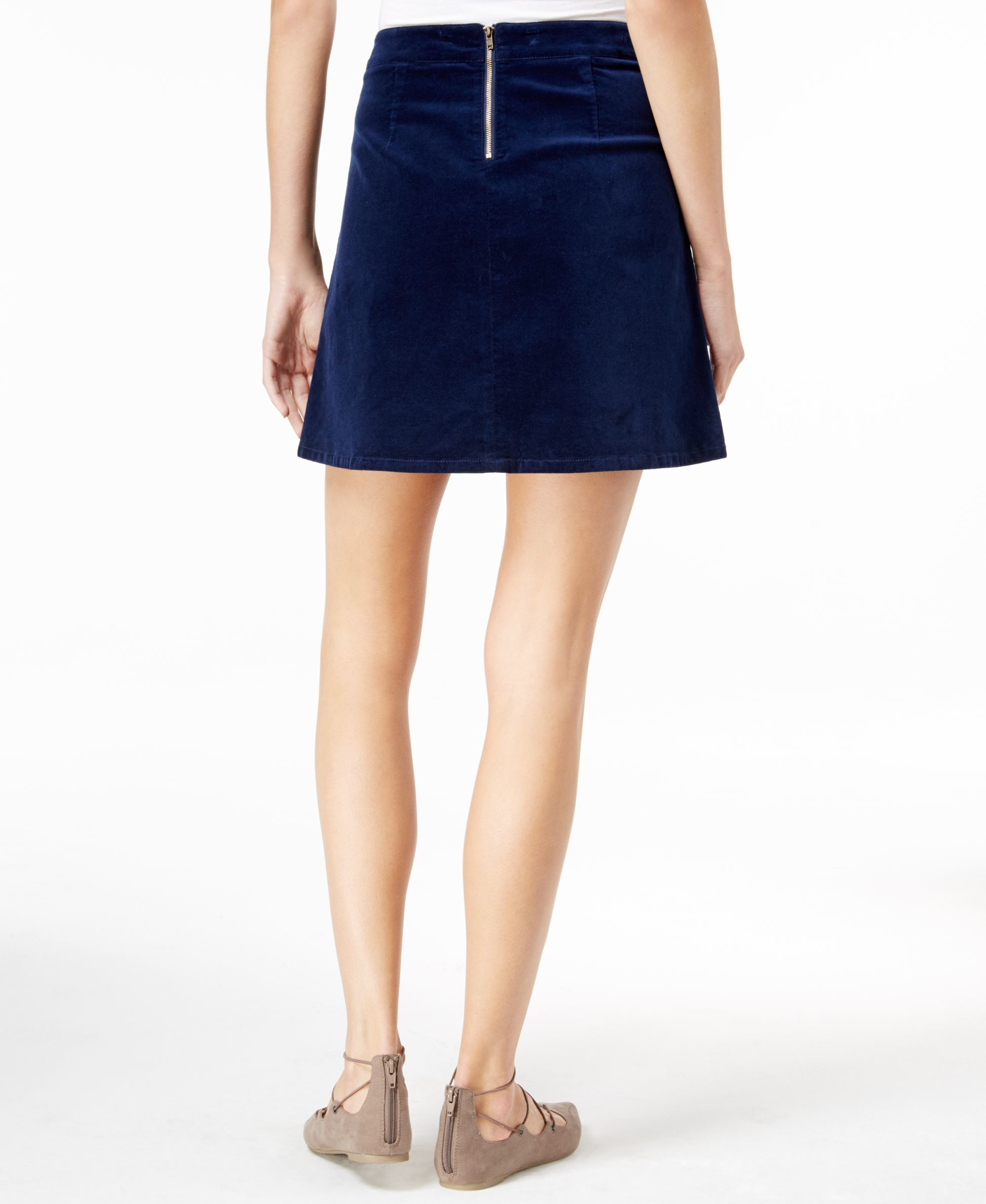 maison jules a line mini skirt only at macy s in blue lyst