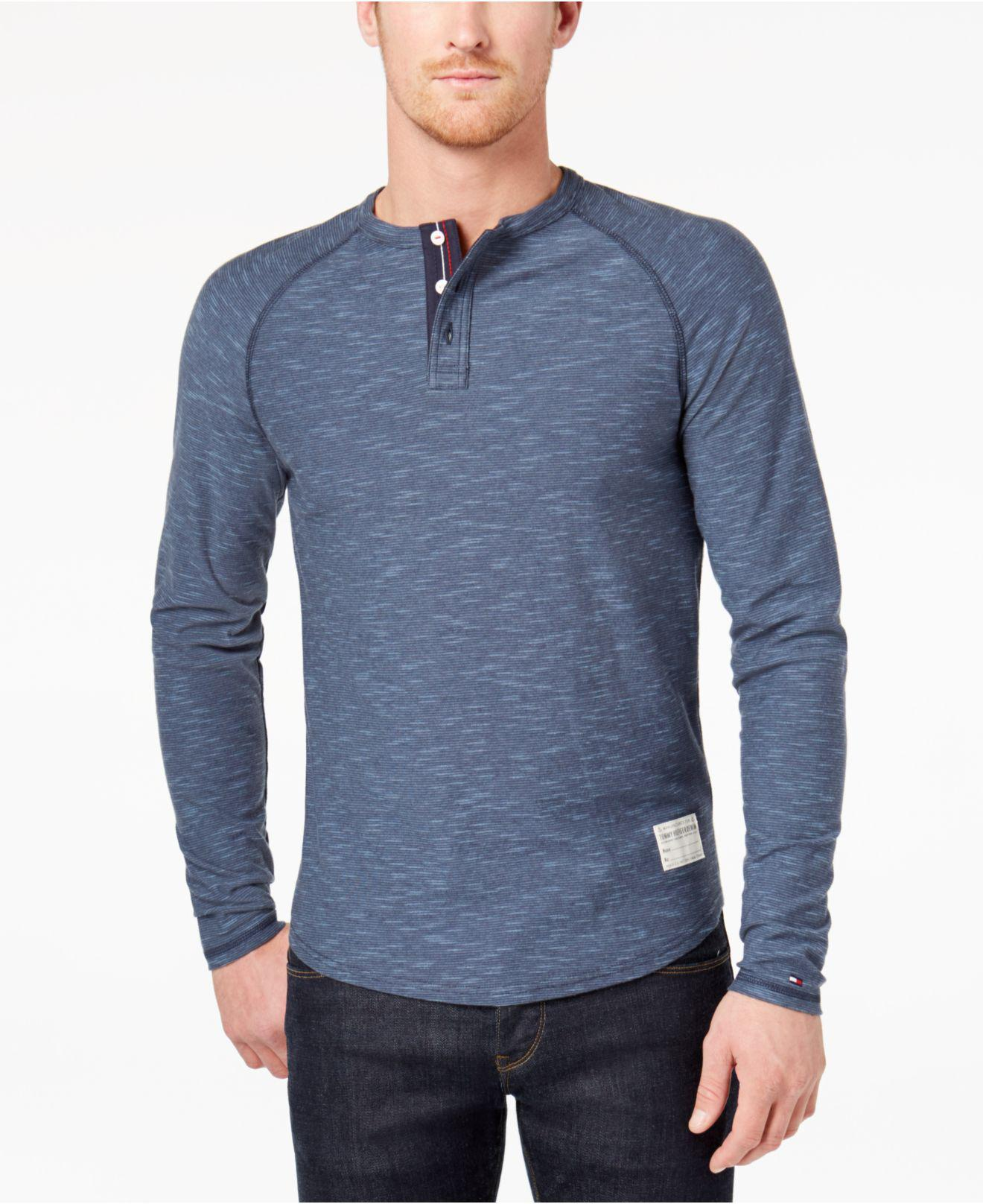 781a46ee Tommy Hilfiger Men's Buxton Henley in Blue for Men - Lyst
