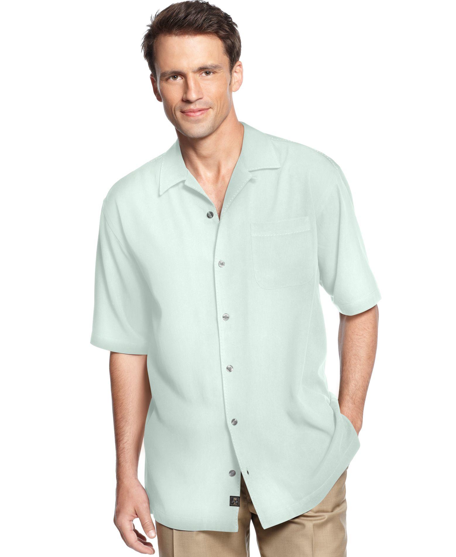 Tommy Bahama Men 39 S Short Sleeve Catalina Twill Shirt Only