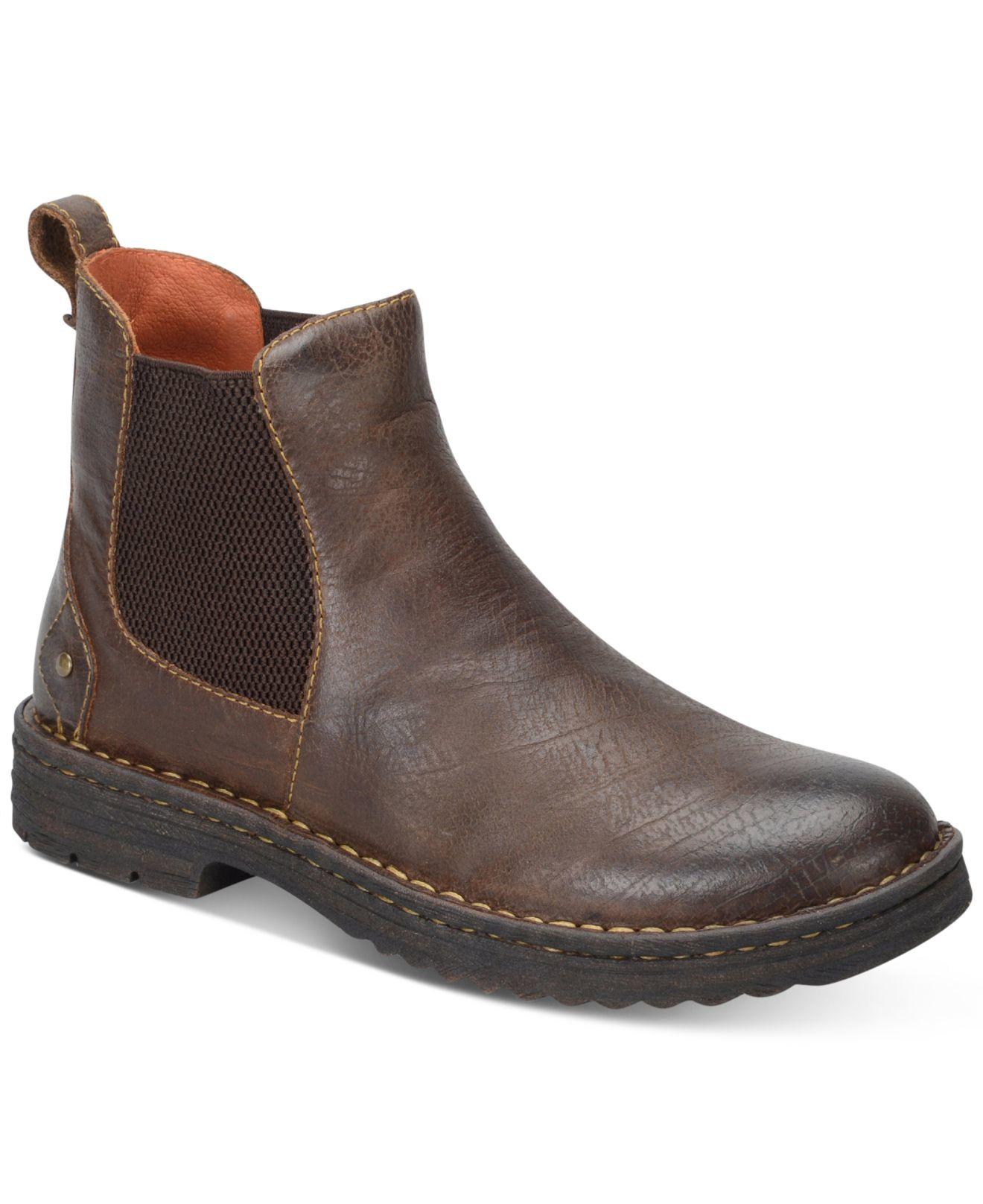 Born Porto Plain Toe Boots In Brown For Men Lyst