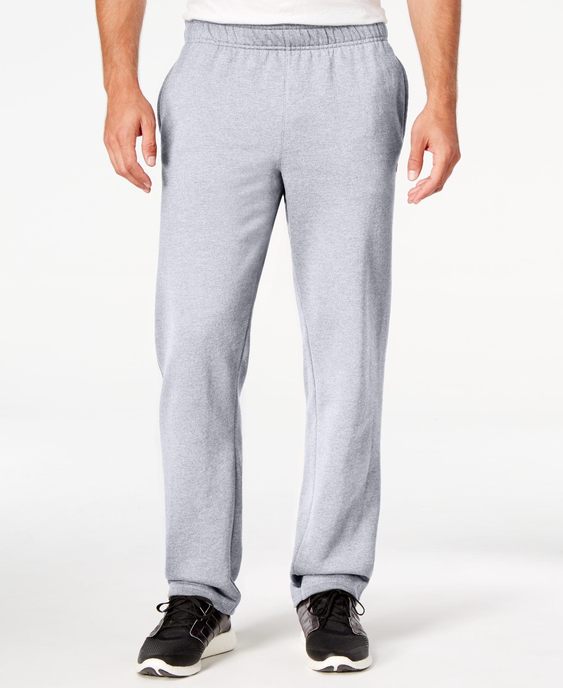 Champion Men's Fleece Powerblend Pants in Gray for Men