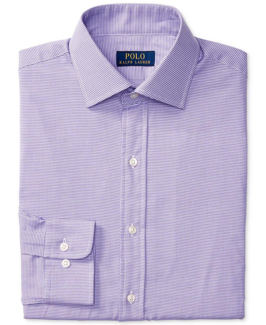 polo ralph lauren men 39 s classic fit purple check dress