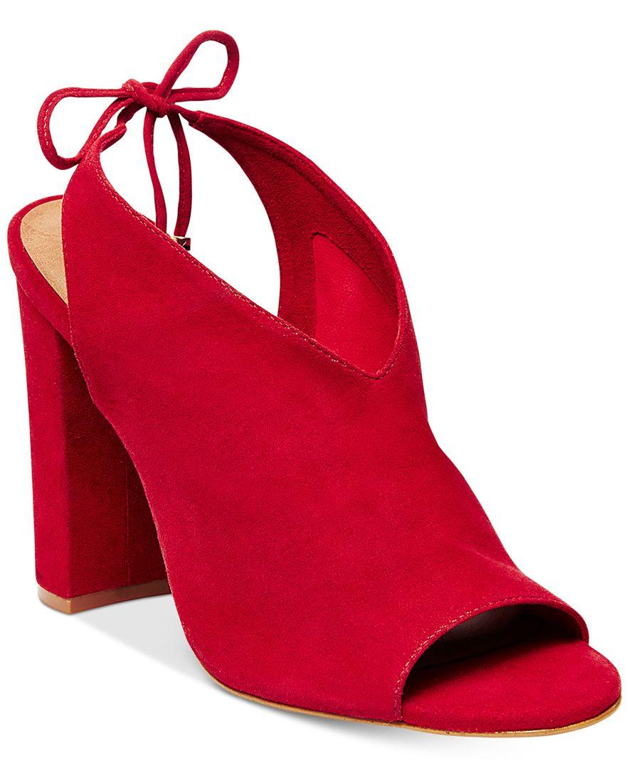 5559fb6e482 Steve Madden Red Women's Saffron Peep-toe Block-heel Sandals