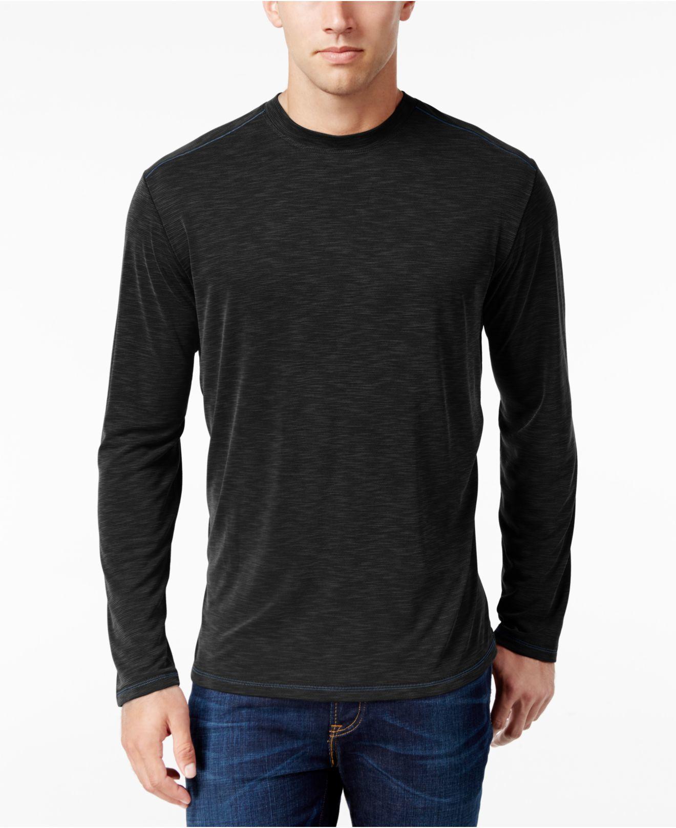Tommy bahama paradise around long sleeve t shirt in black for Tommy bahama long sleeve dress shirts