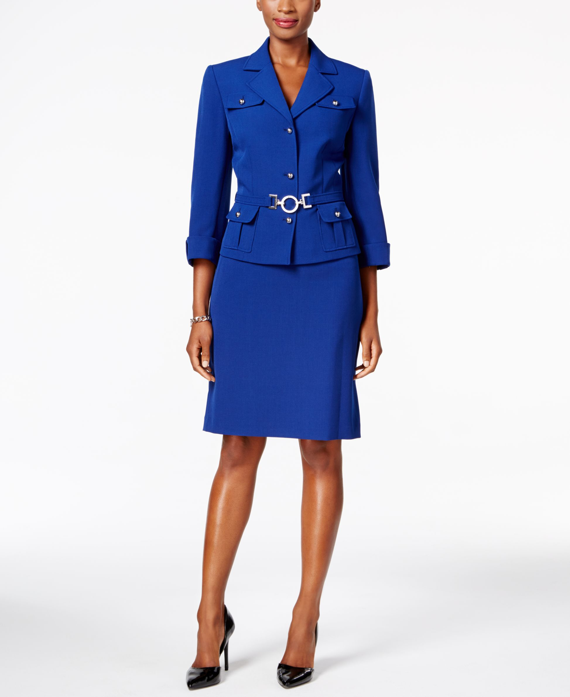 Belted Skirt Suit 93
