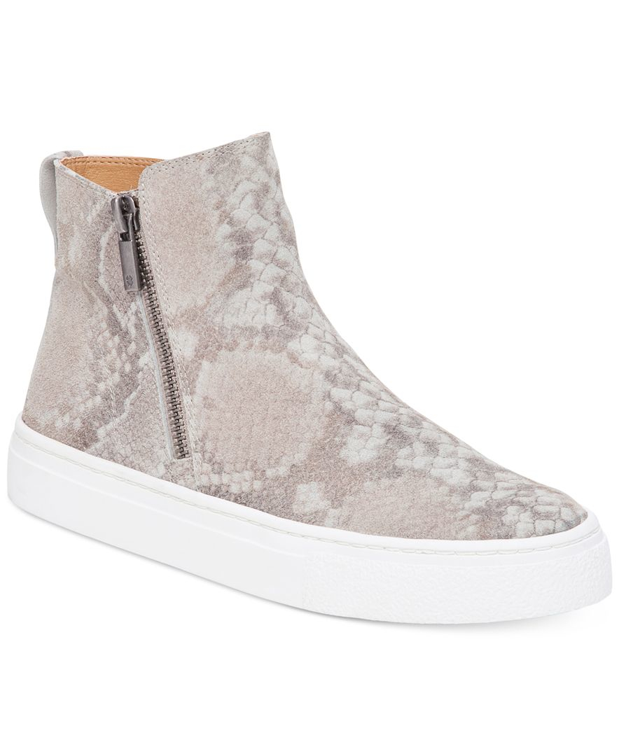 lucky brand s bayleah high top sneakers in gray lyst