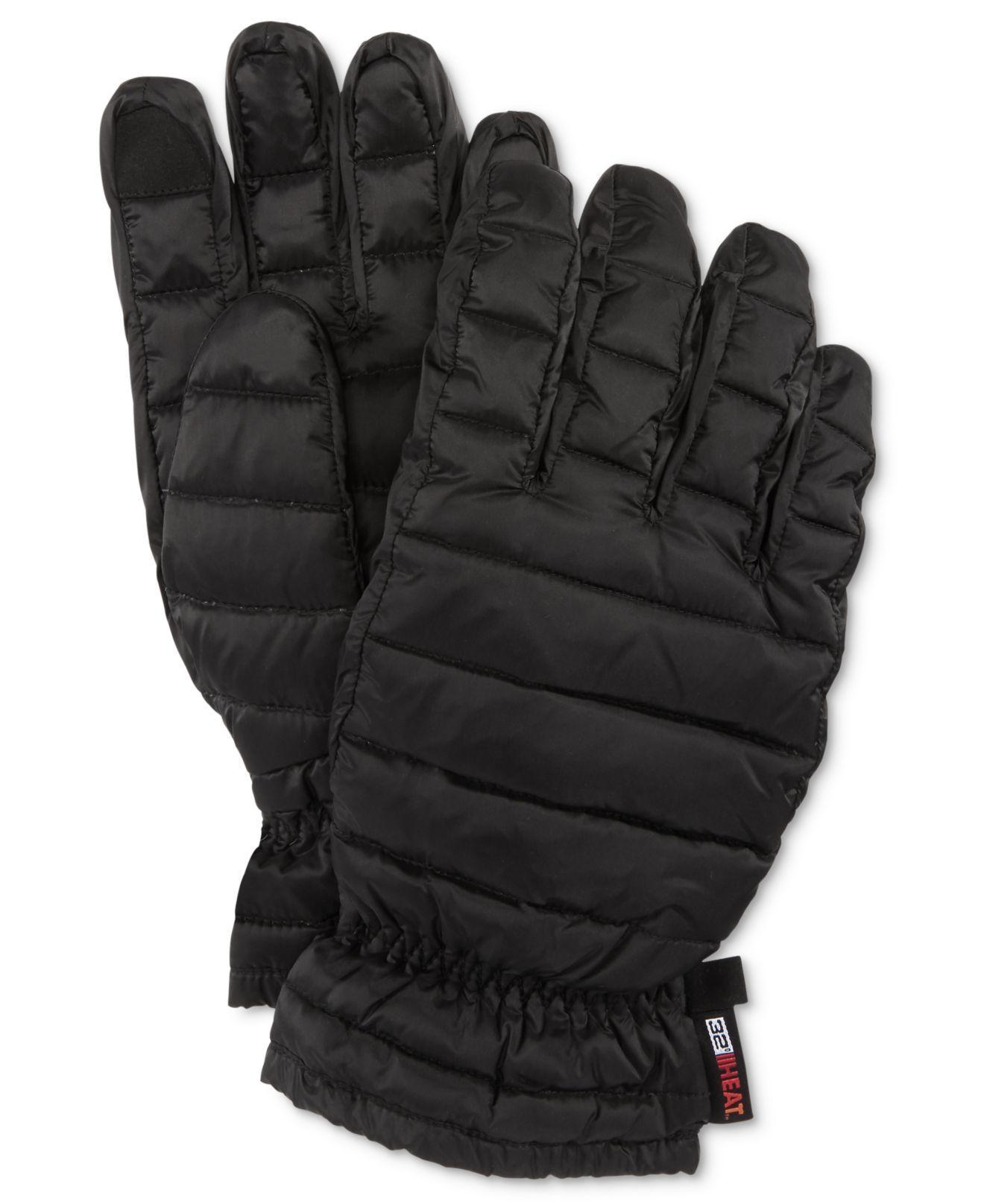 Mens down gloves - Featured 32 Degrees Black Men S Down Gloves