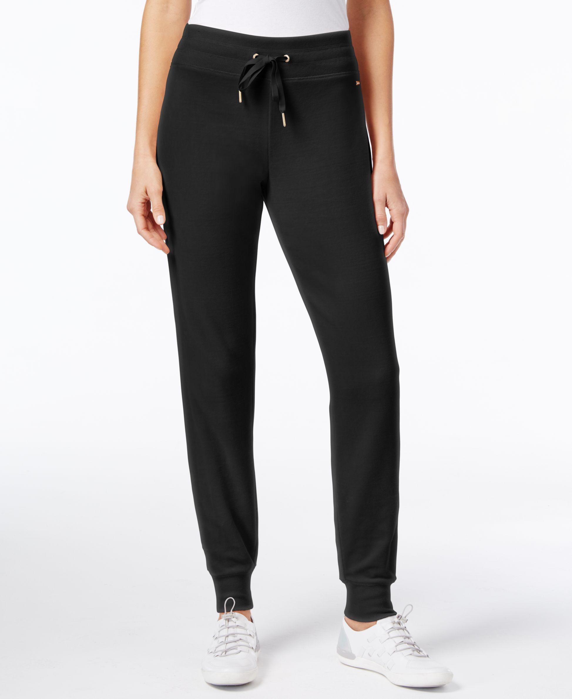 Calvin Klein Velour Jogger Pants In Black Lyst