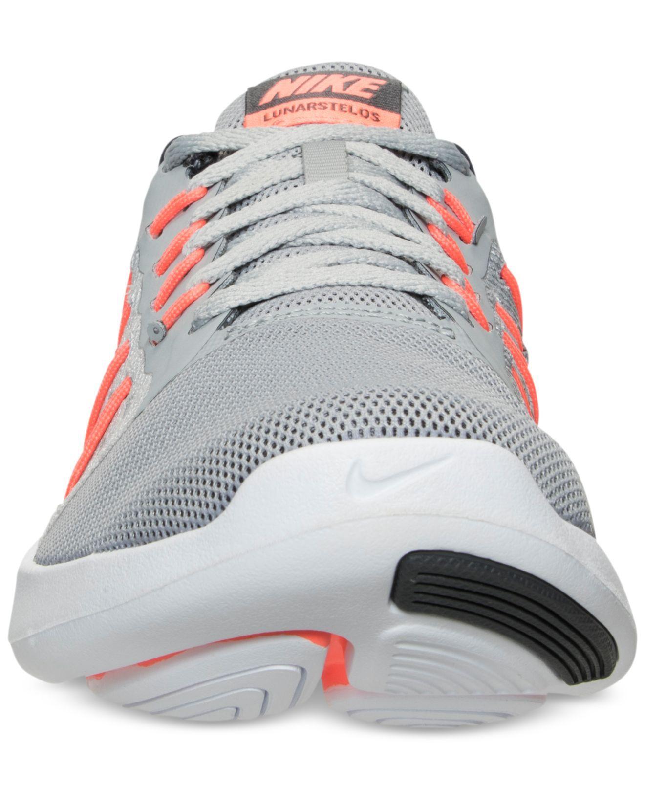 53be24cdb0f Lyst - Nike Women s Lunarstelos Running Sneakers From Finish Line in ...