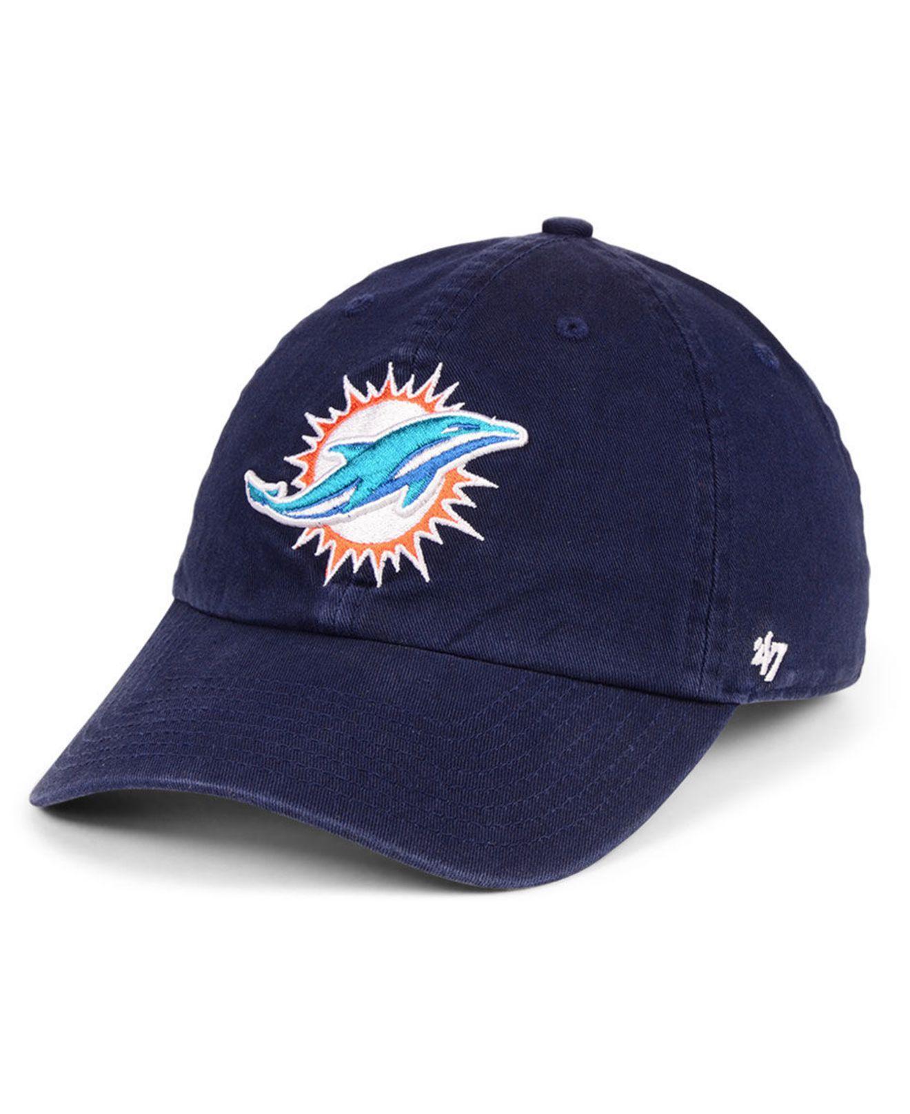 new concept 8e89f f4a3c 47 Brand. Men s Blue Miami Dolphins Clean Up Cap