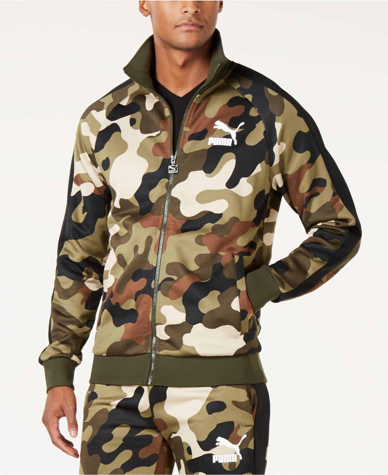 f3d882b8da9c Lyst - PUMA Camo-print T7 Track Jacket for Men
