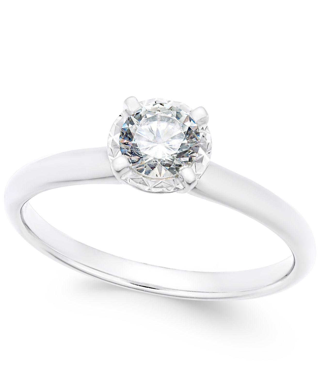 Macy's Diamond Solitaire Engagement Ring (1/2 Ct. T.w.) In