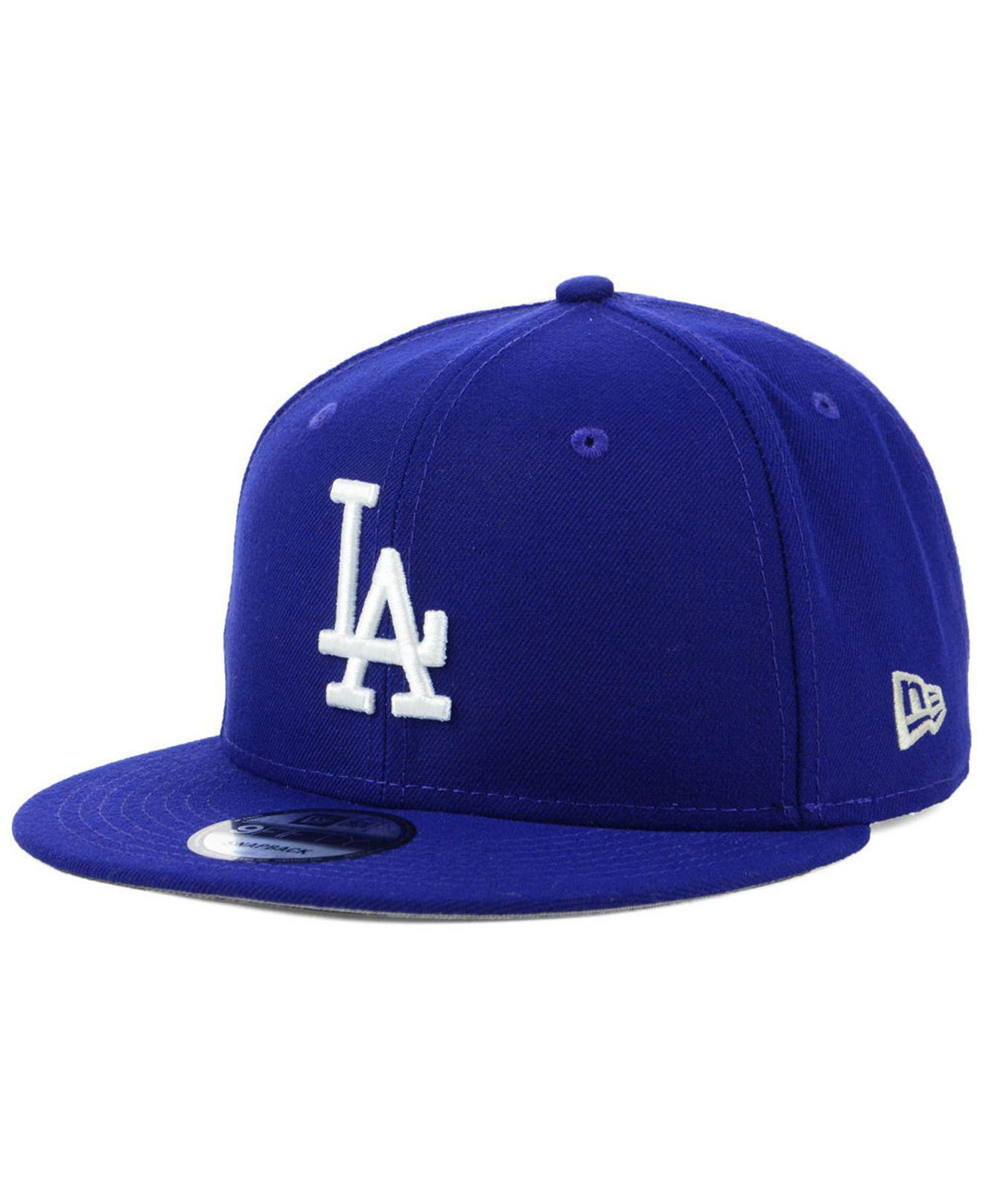 e8717195e3f4f Lyst - KTZ Los Angeles Dodgers Title Trim 9fifty Snapback Cap in ...