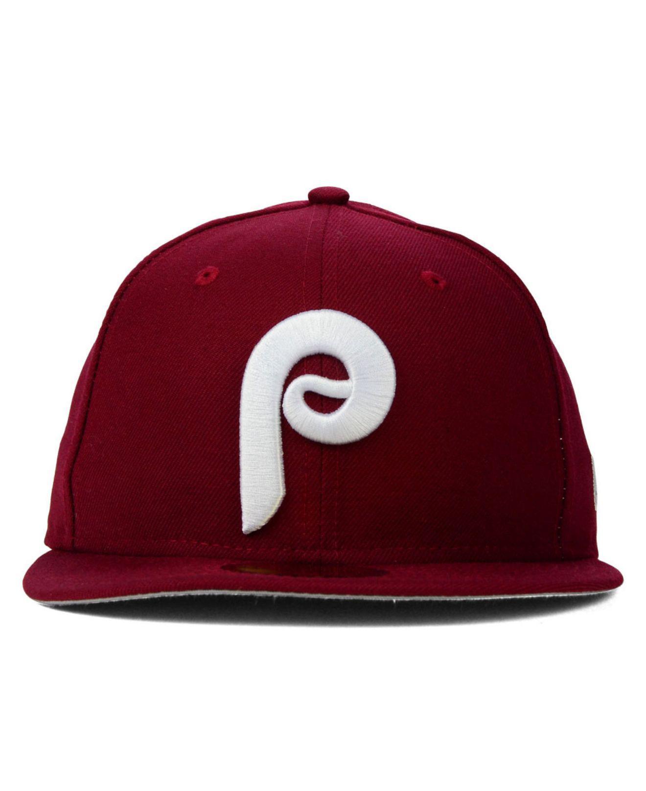 0f8724ee73d Lyst - KTZ Philadelphia Phillies Mlb Cooperstown 59fifty Cap in Red for Men  - Save 5%