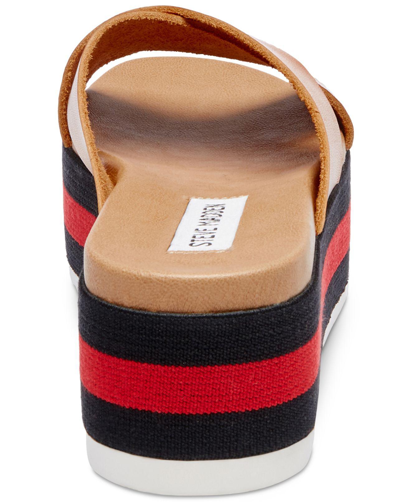 20e998cece4d Lyst - Steve Madden Asher Cross-band Flatform Sandals