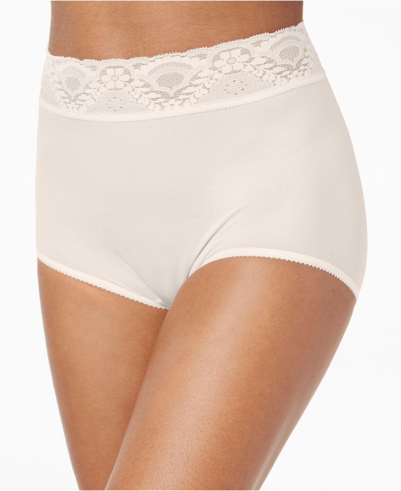 cf4414ff000b Lyst - Bali Lacy Skimp Skamp Brief 2744 in Natural