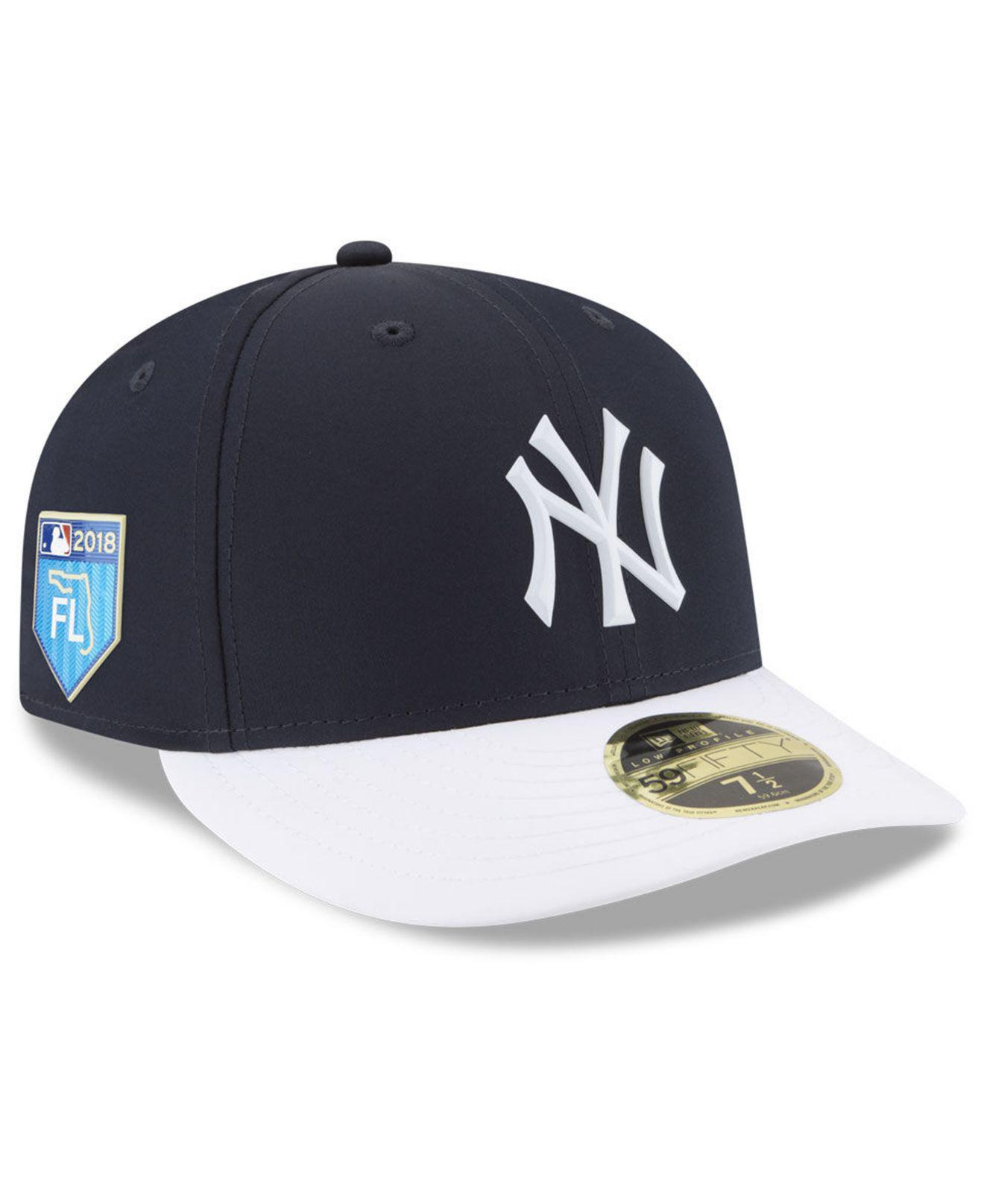 7976c544f43 KTZ. Men s Blue New York Yankees Spring Training Pro Light 59fifty Fitted  Cap
