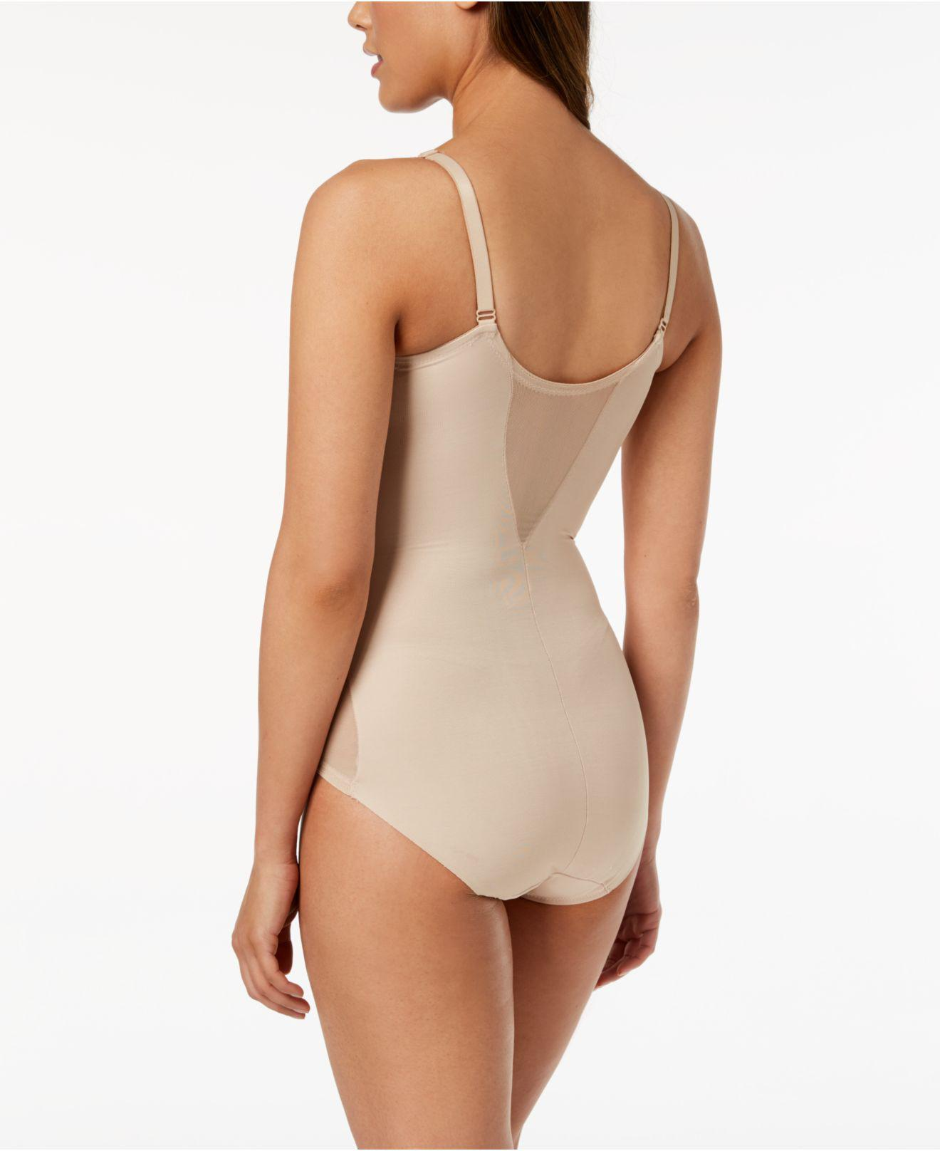 d96afd3c0d Lyst - Miraclesuit Extra Firm Control Sheer Trim Body Shaper 2783 in Natural  - Save 7%