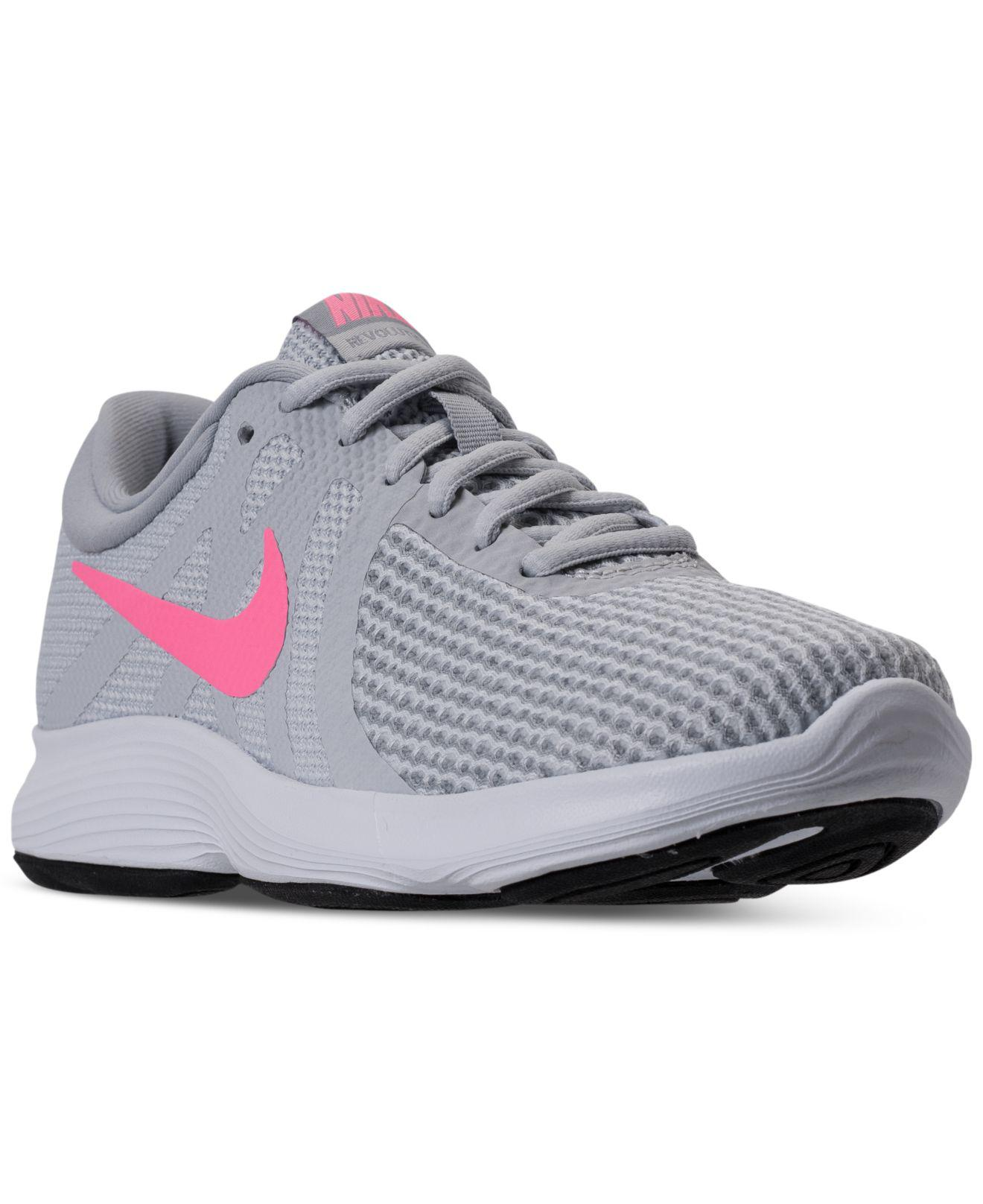 877416ab6760f Lyst - Nike Women s Revolution 4 Running Sneakers From Finish Line ...